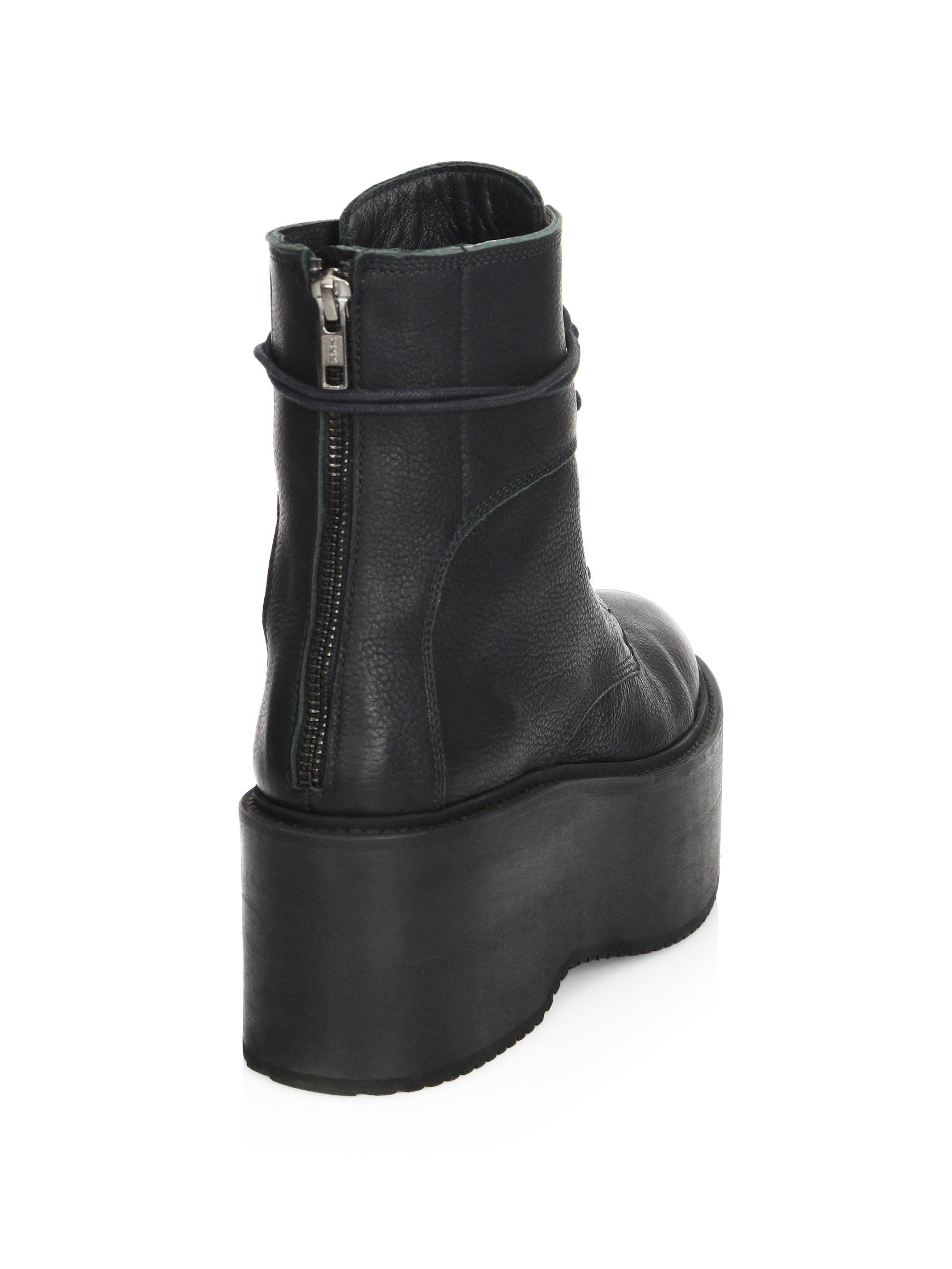 LD Tuttle - Black The Plunge Leather Mid-calf Platform Boots - Lyst. View  fullscreen