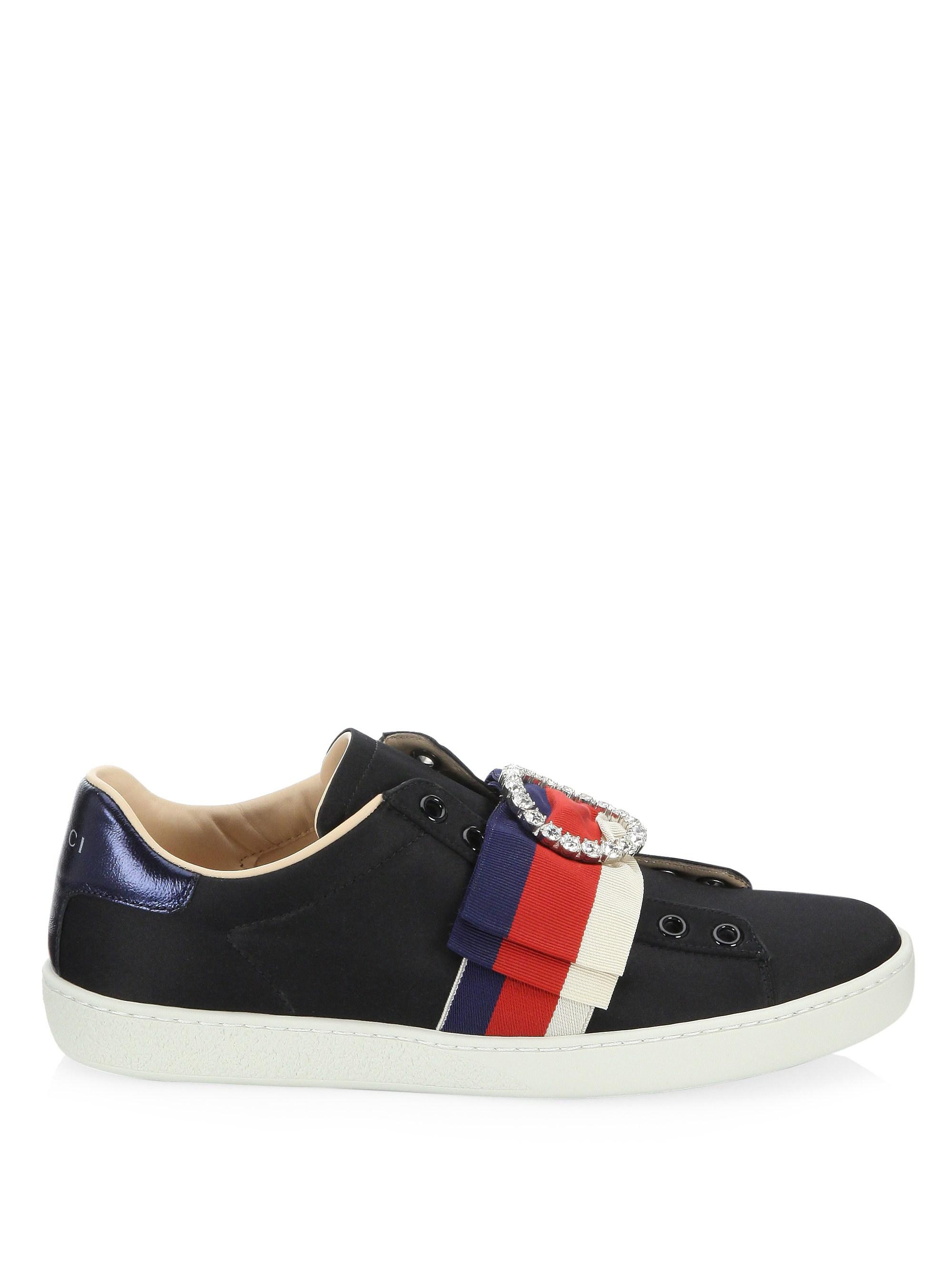 b98631013f2 Lyst - Gucci New Ace Laceless Sneakers in Black