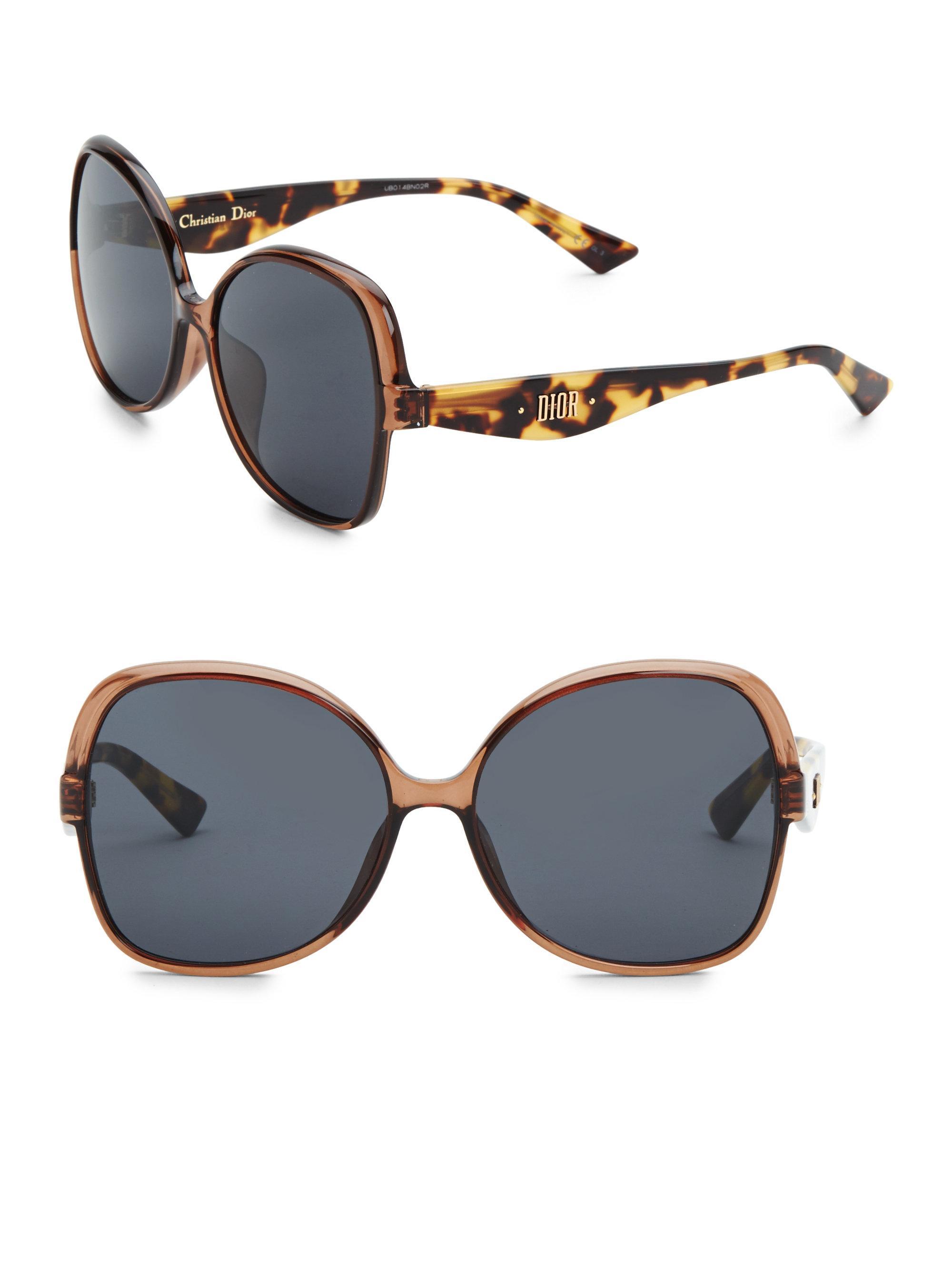 8d4ea5aeb4 Dior - Brown 60mm Nuance Square Sunglasses - Lyst. View fullscreen