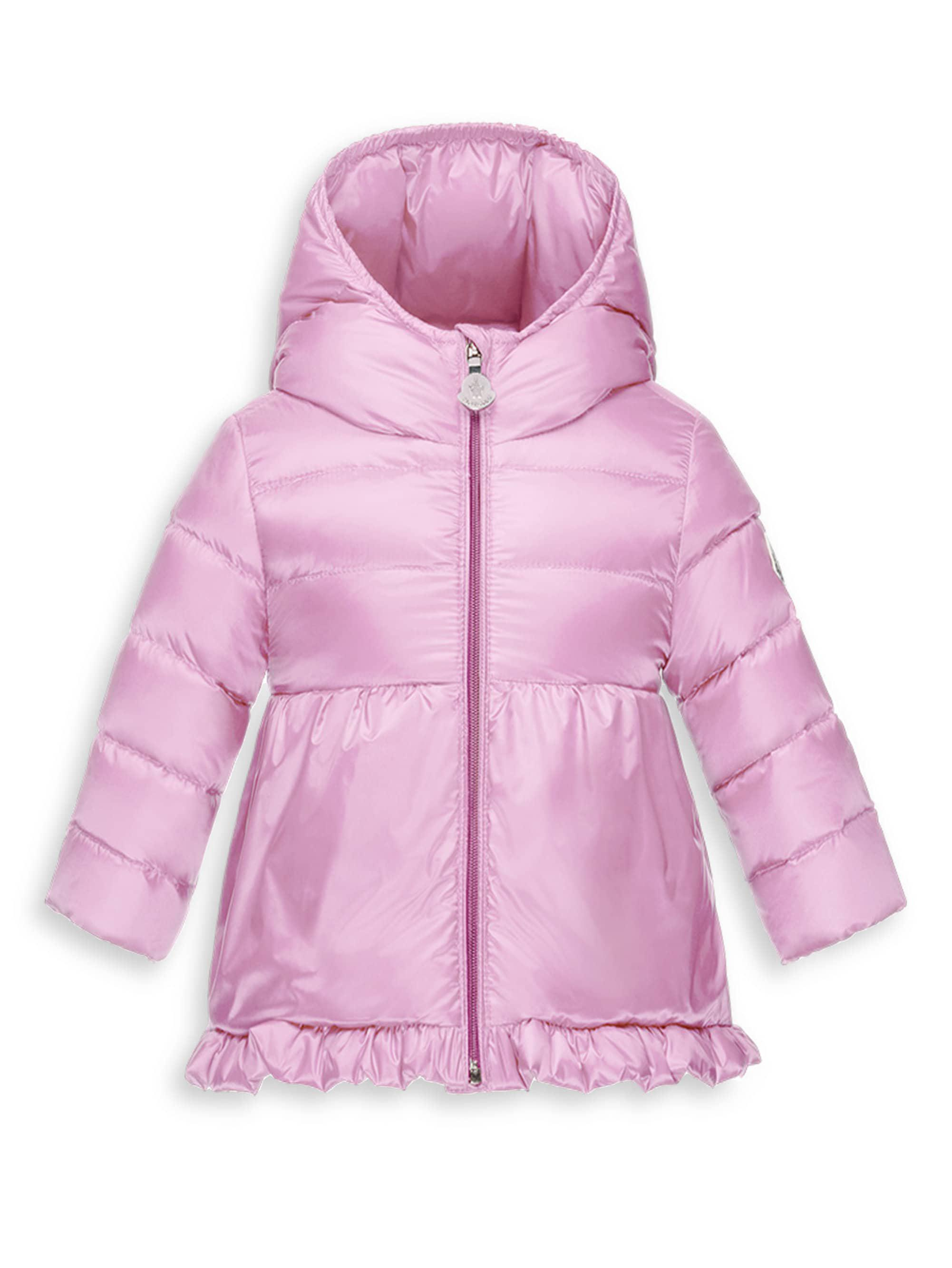 9ce606d65e60 Moncler Baby Girl s Odile Puffer Coat in Pink - Lyst