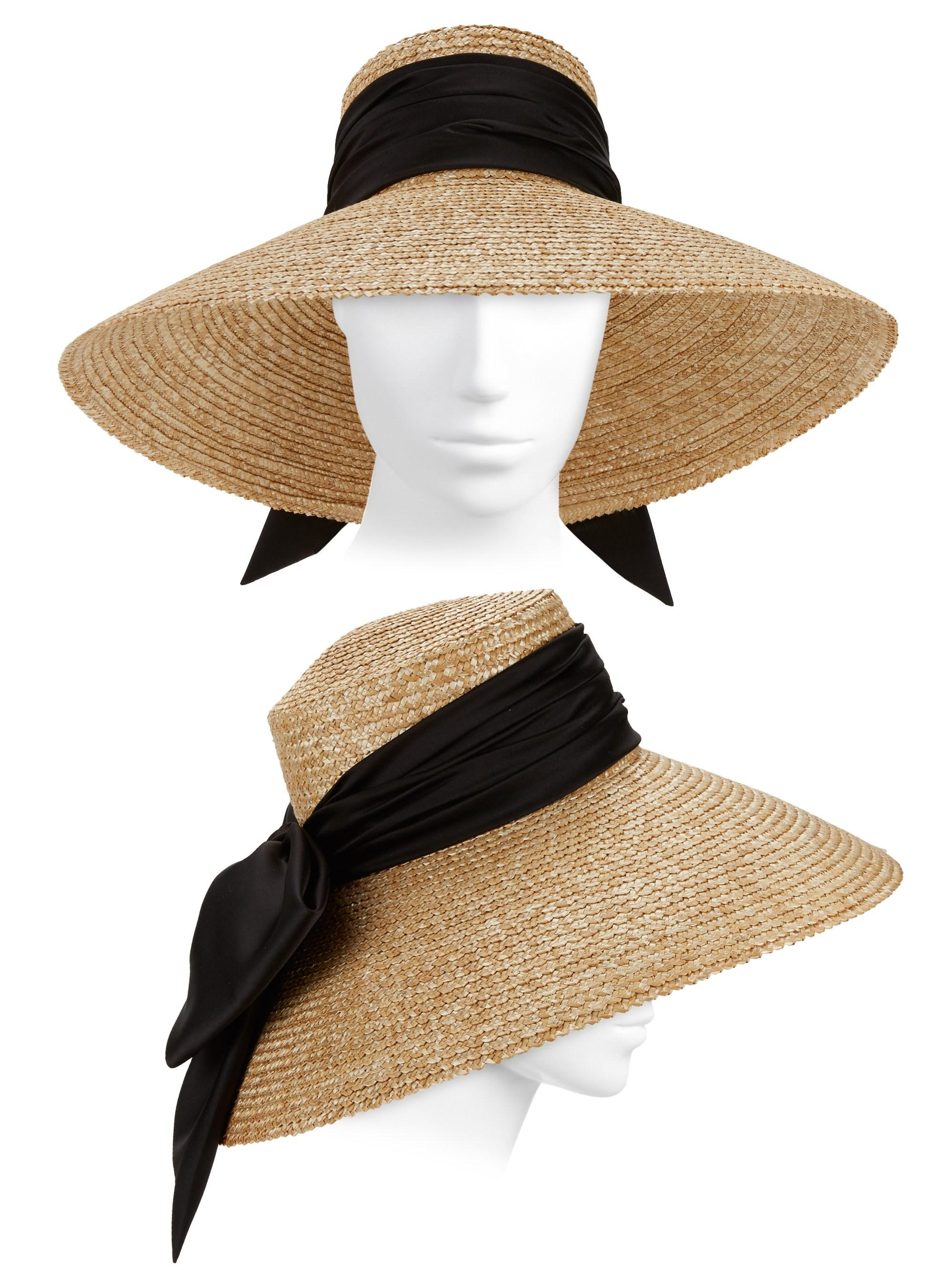 ba9943c026770 Eugenia Kim Mirabel Textured Straw Sun Hat W  Satin Bow in Natural ...
