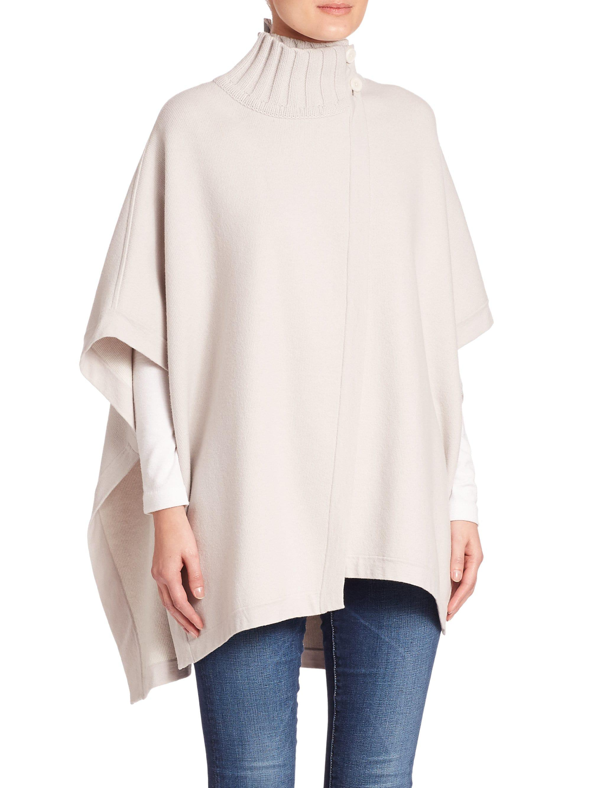 c3aa87f4203 Theory Palomina Poncho in White - Lyst