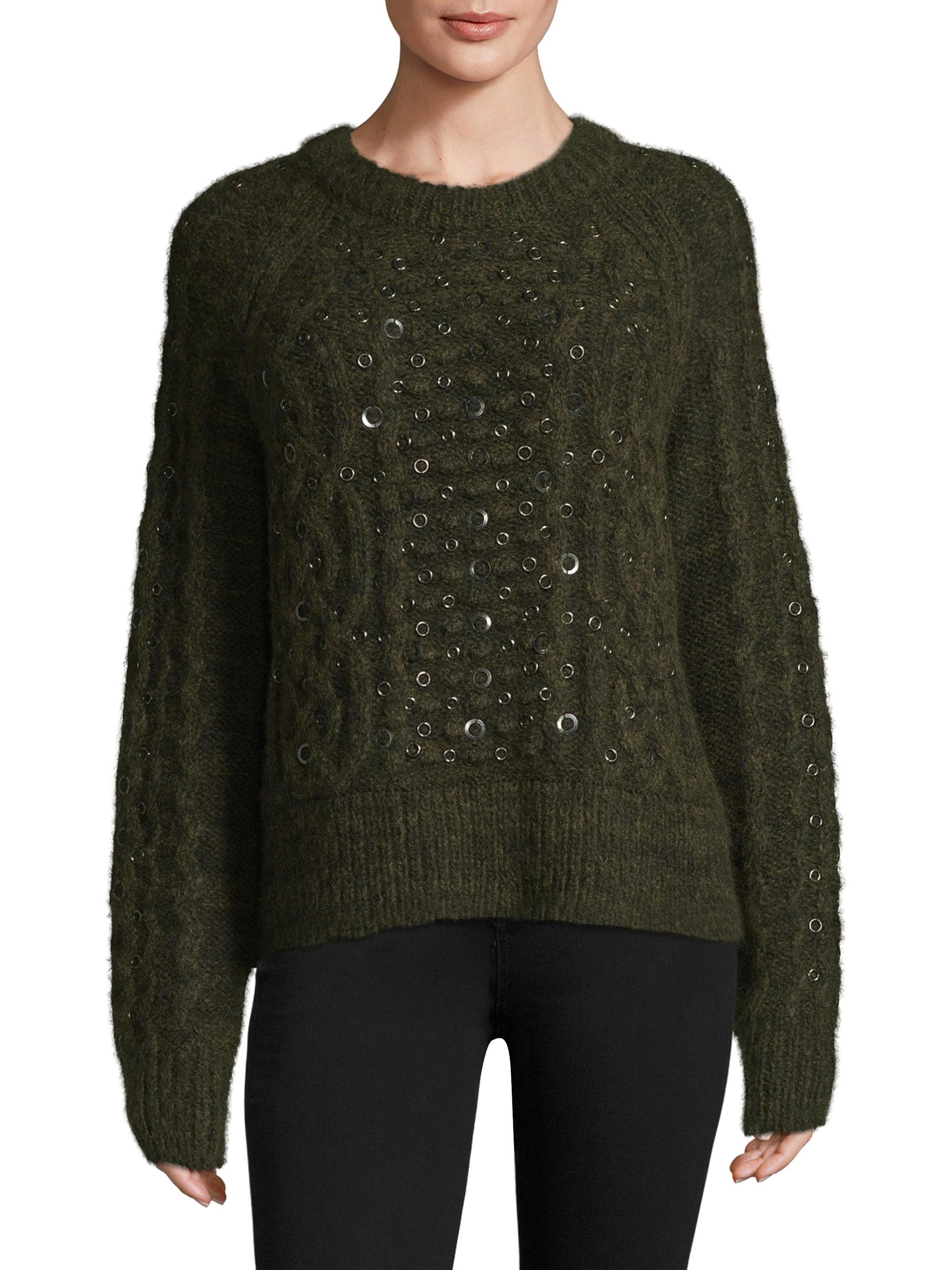 Lyst In Green Jemima amp; Rag Embellished Sweater Bone 8RzHF8g