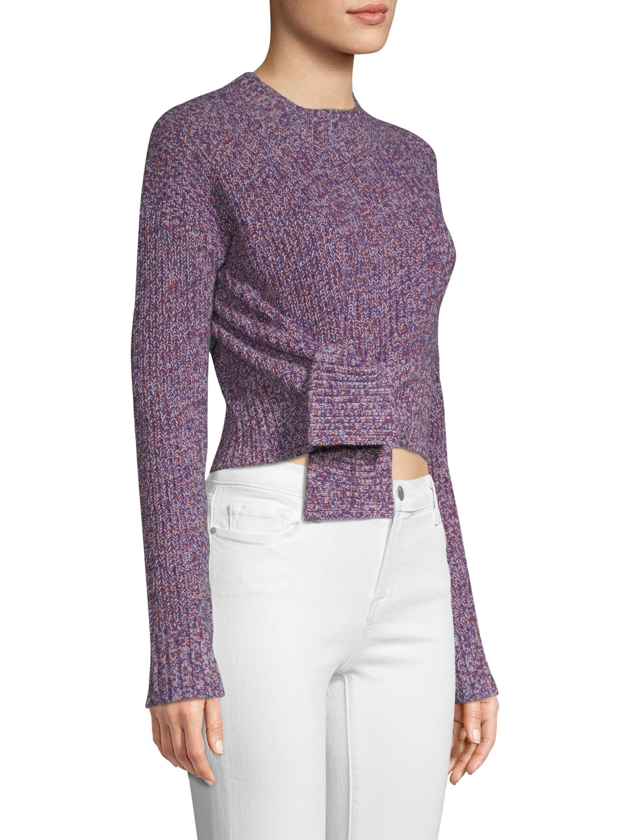 1c5eb526c3752f Zoe Jordan Foreman Cashmere   Wool Sweater in Purple - Lyst
