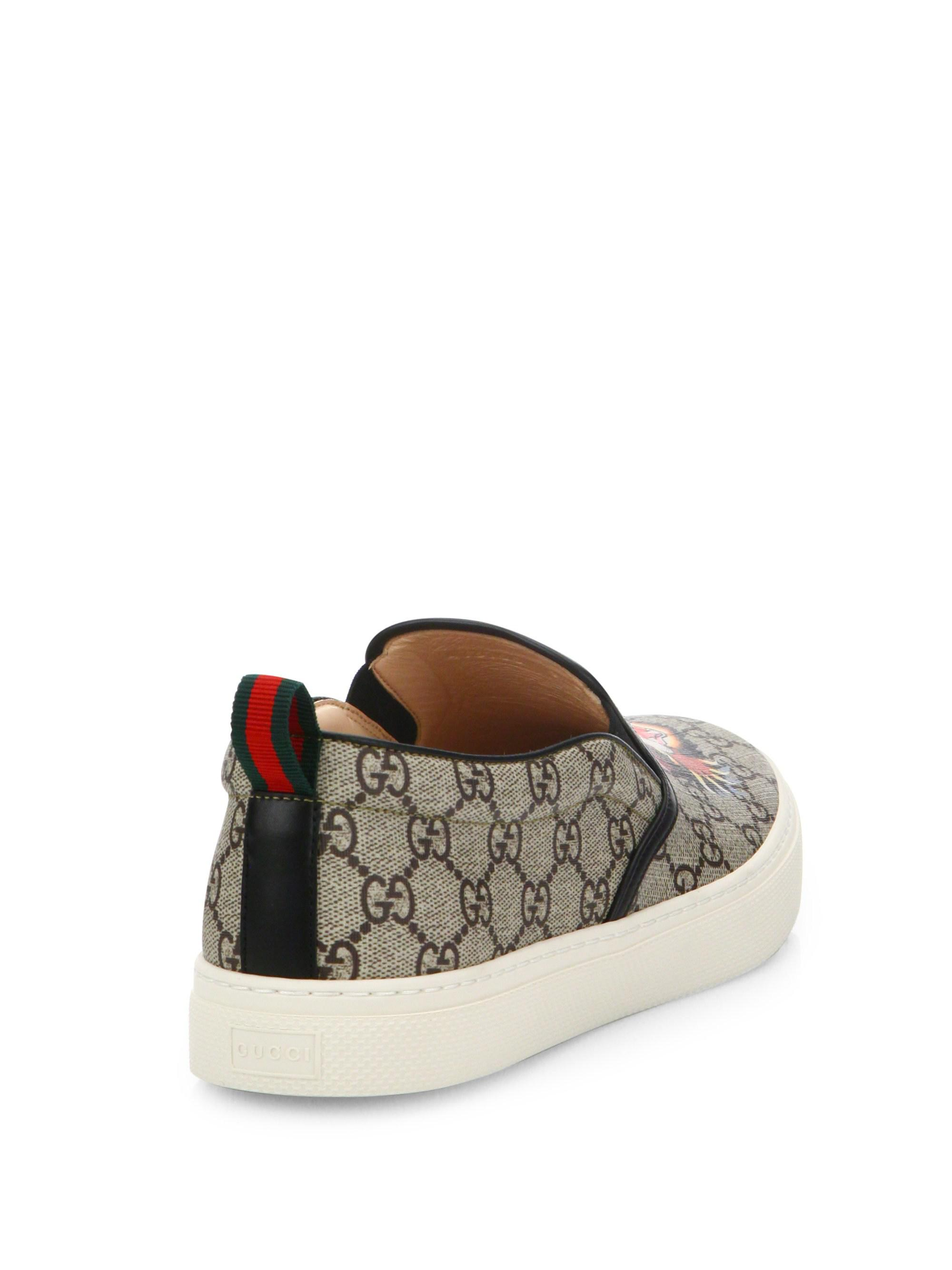 cc8a23d81d79 Lyst - Gucci GG Supreme Angry Cat Slip-on Sneakers in Natural for Men