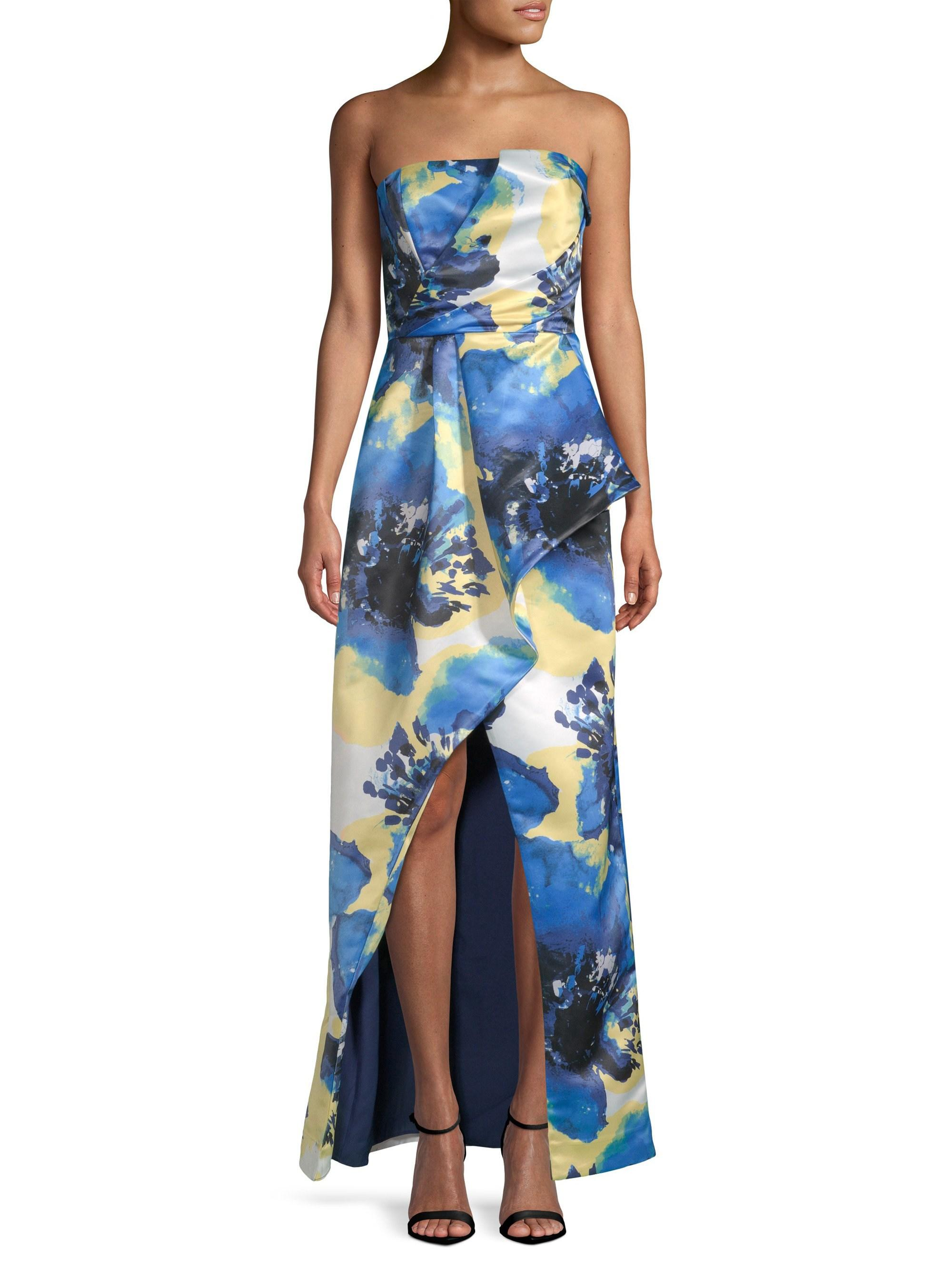 905b9308b8dc3 Parker Black Women's Whitney Strapless Gown - Peony Blue - Size 4 in ...