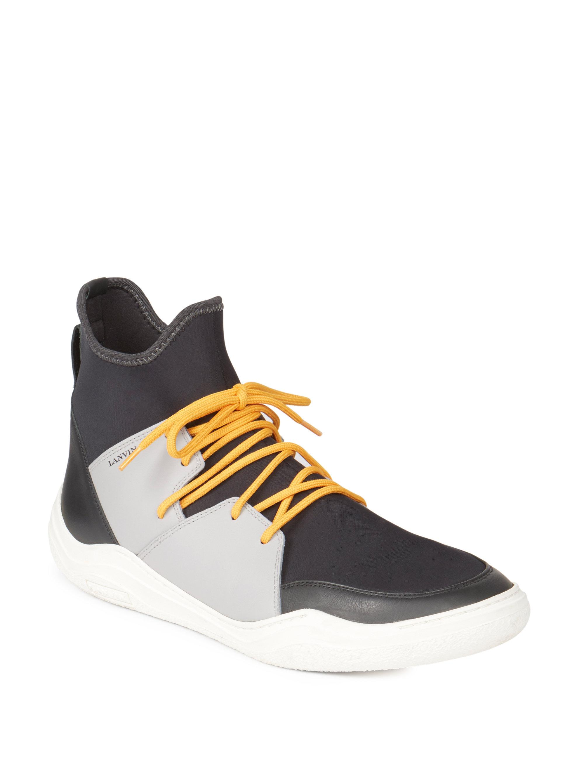 LanvinKnit Neoprene High-Top Sneakers R71T5Xad