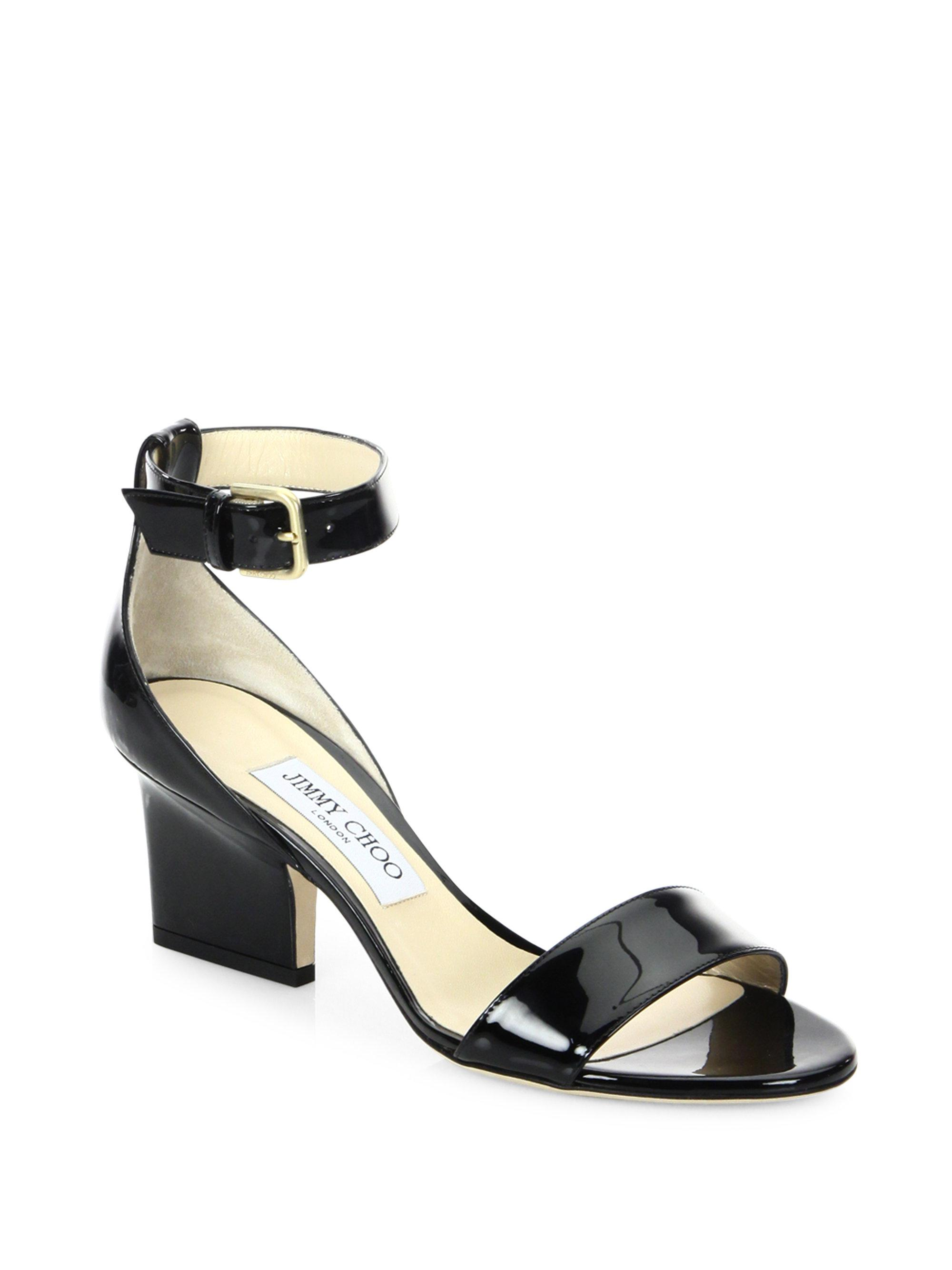 Jimmy Choo Patent Leather T-Strap Sandals free shipping pictures choice sale online cheap amazing price buy cheap countdown package K6pGEaWHyR