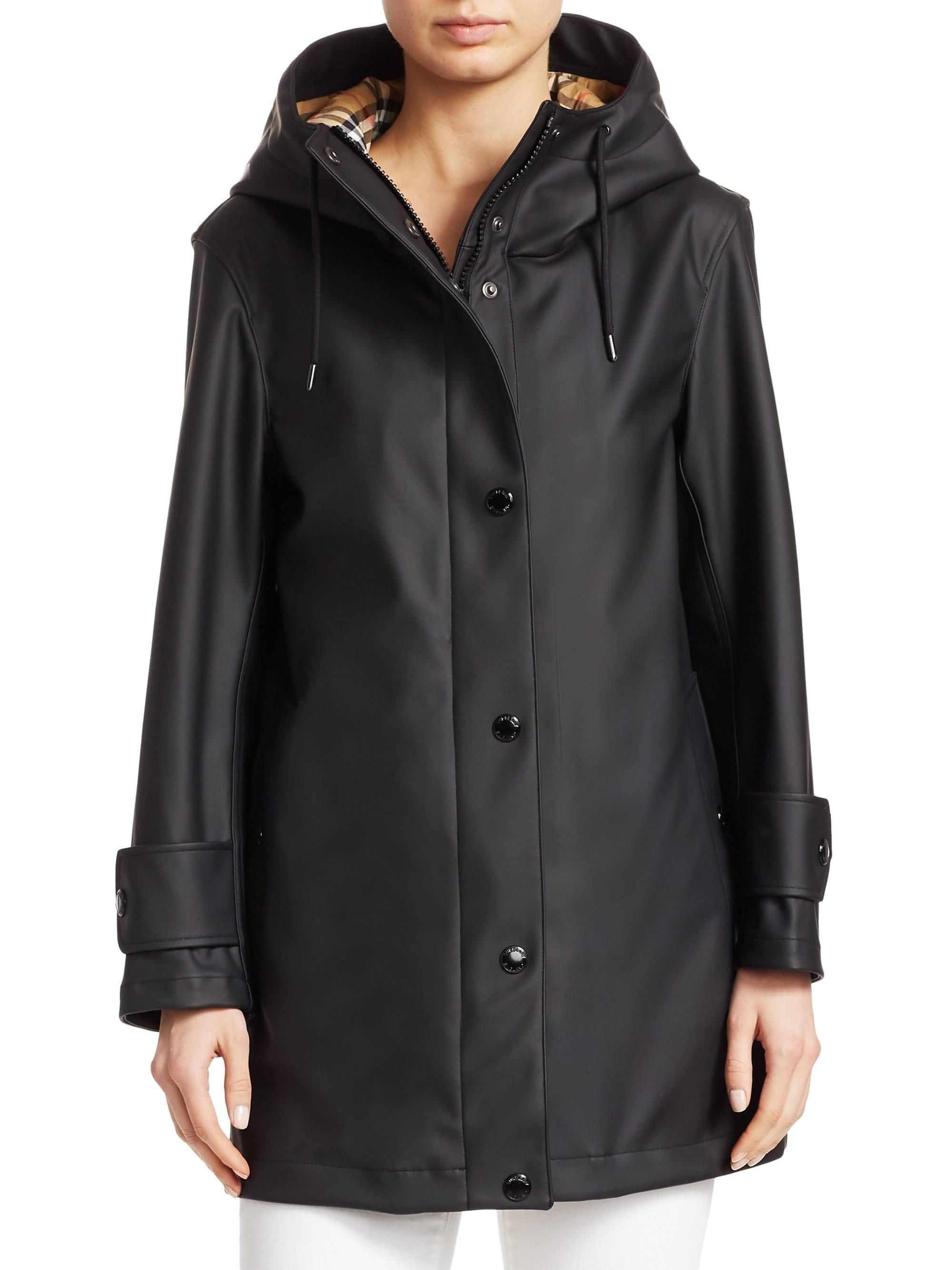 60dc90404e02 Lyst - Burberry Hartlebury Rubberized Jacket in Black