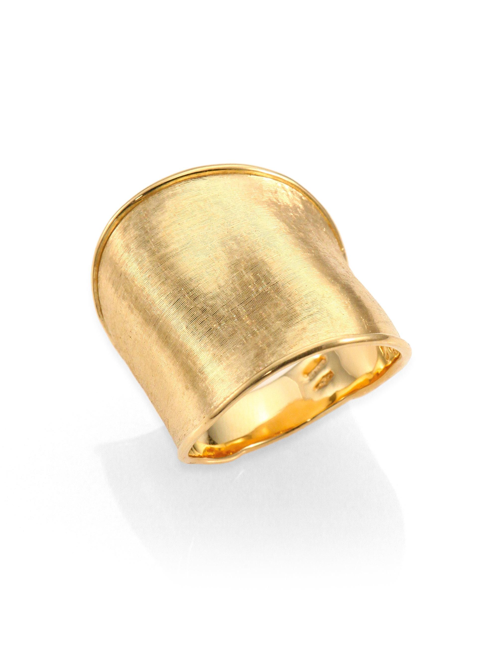 Marco Bicego Lunaria 18k Gold Band Ring Lo5BjtppE