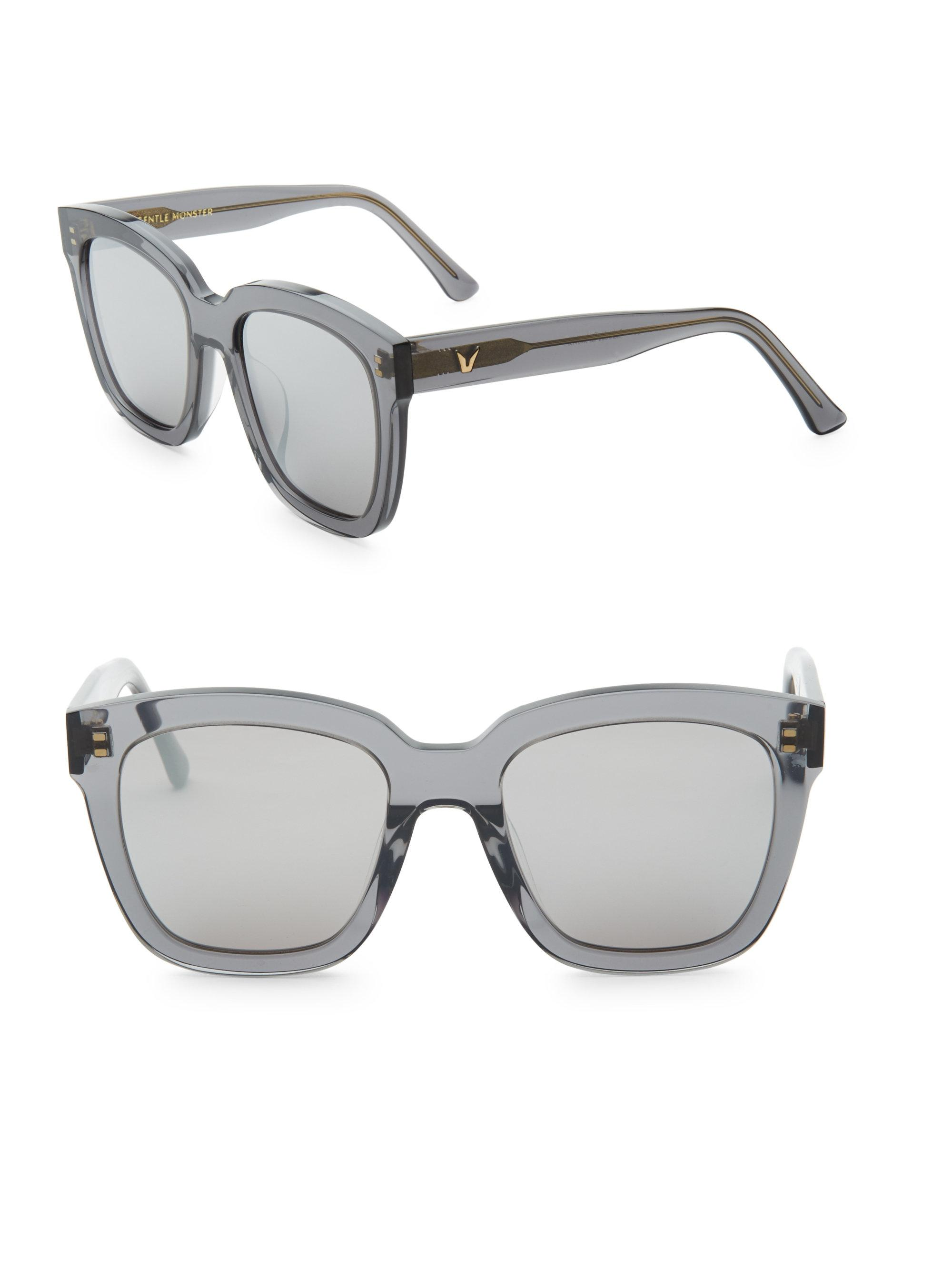 1d710d22f0 Lyst - Gentle Monster Dreamer Hoff Ombre Square Sunglasses in Gray ...