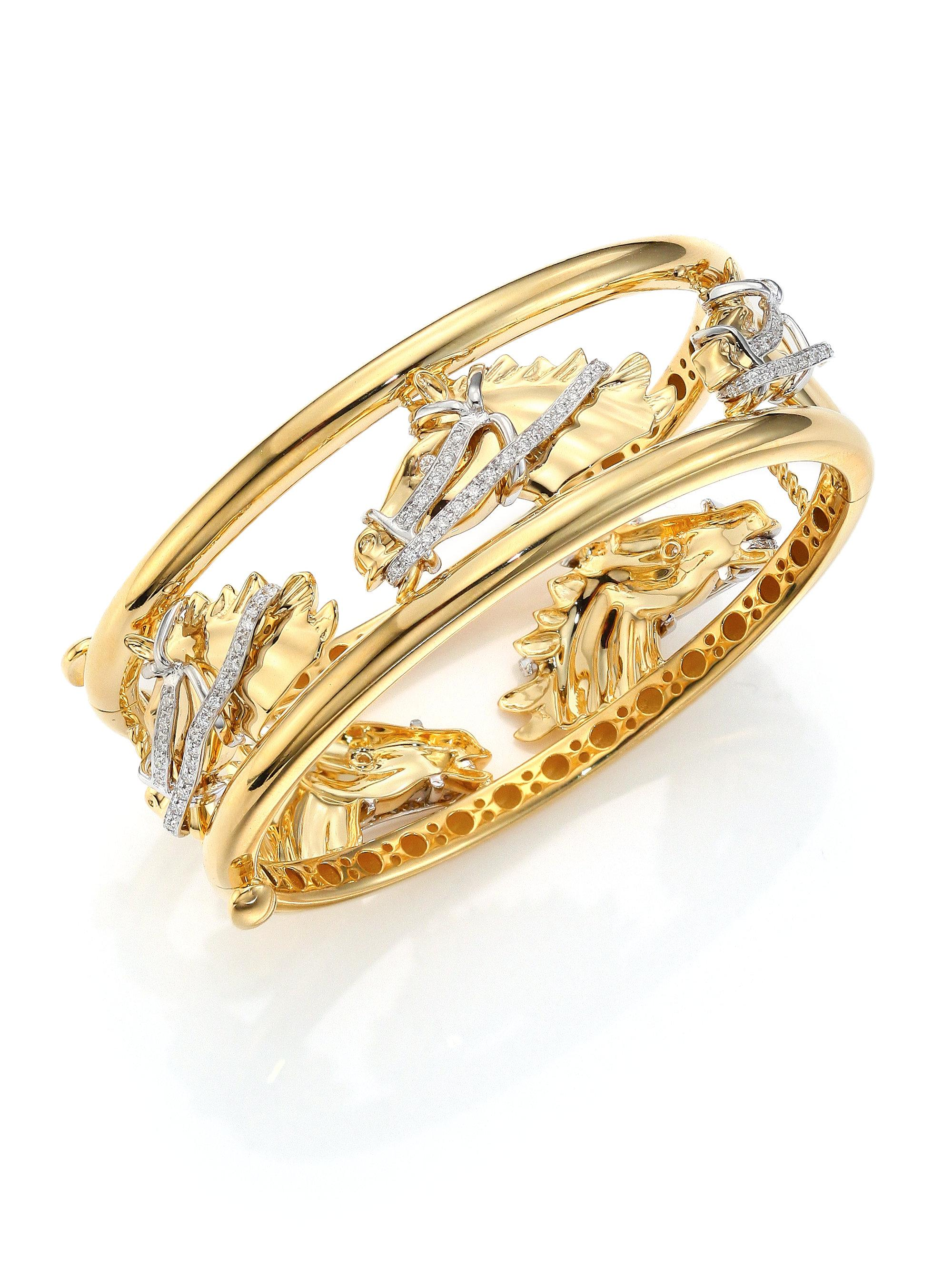 bangles in bracelet oval image gold round bangle and yellow sapphire diamond