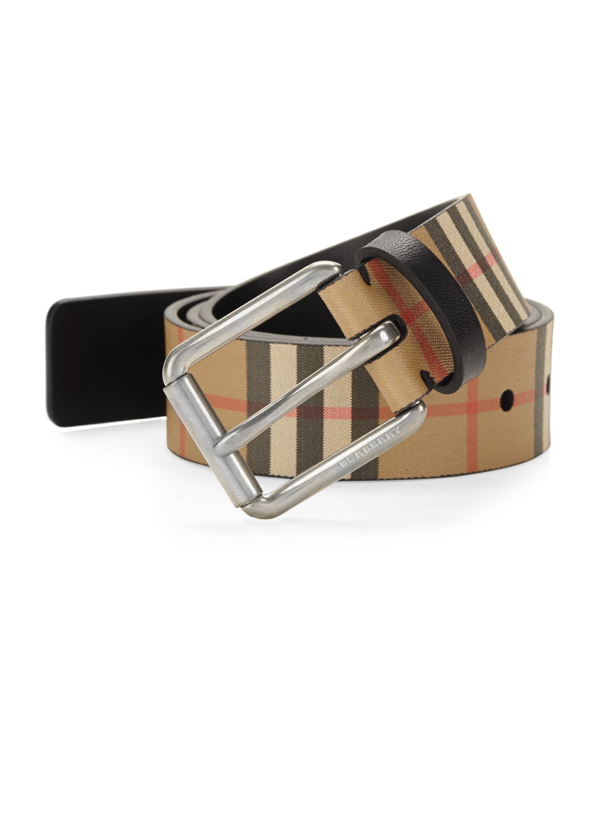 4e0f29f98 Burberry Mark 35 Slim Belt in Black for Men - Lyst