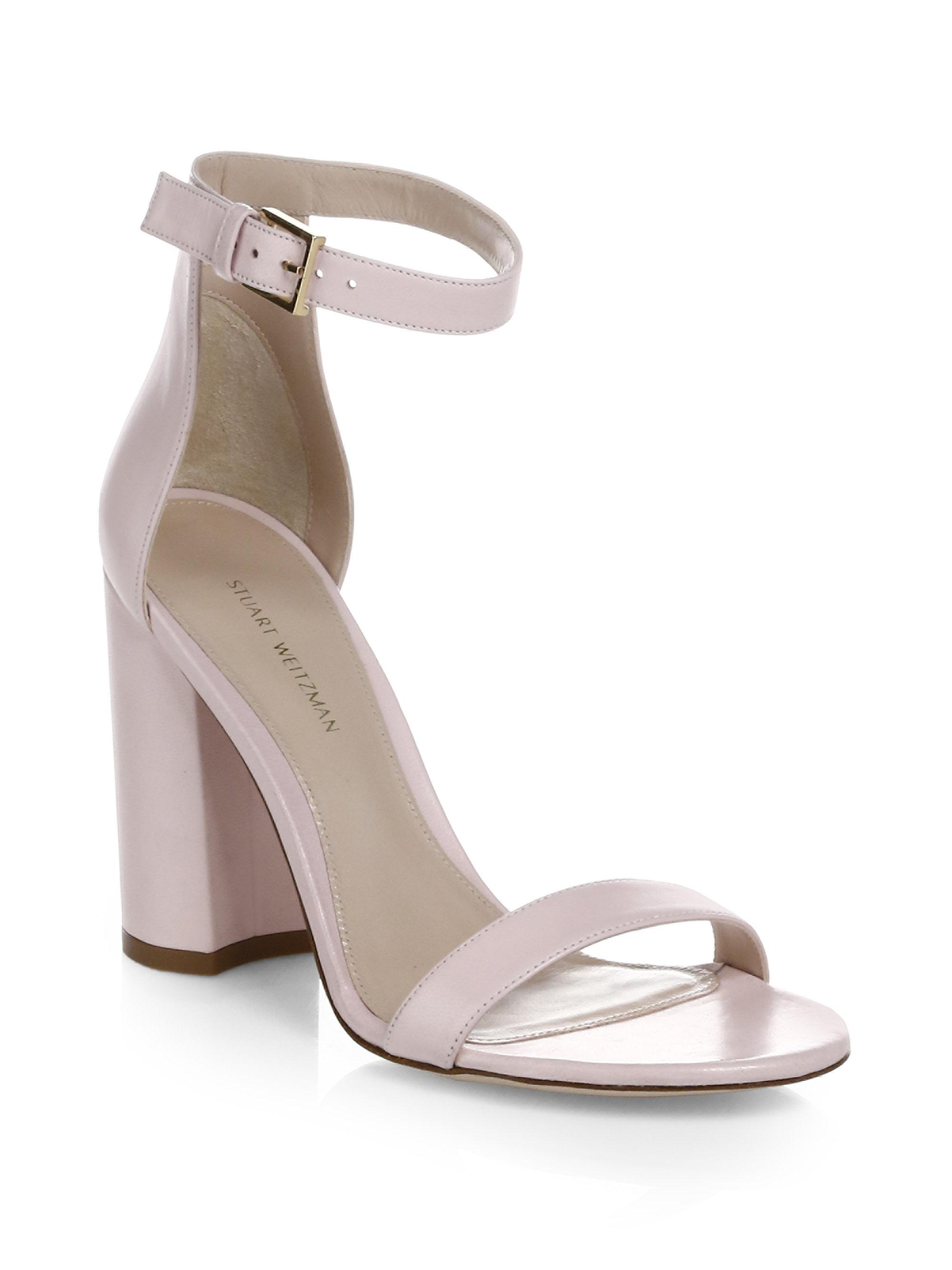 clearance outlet locations recommend online Stuart Weitzman Embossed Ankle Strap Sandals sast online cheap sale low price NZVHLT