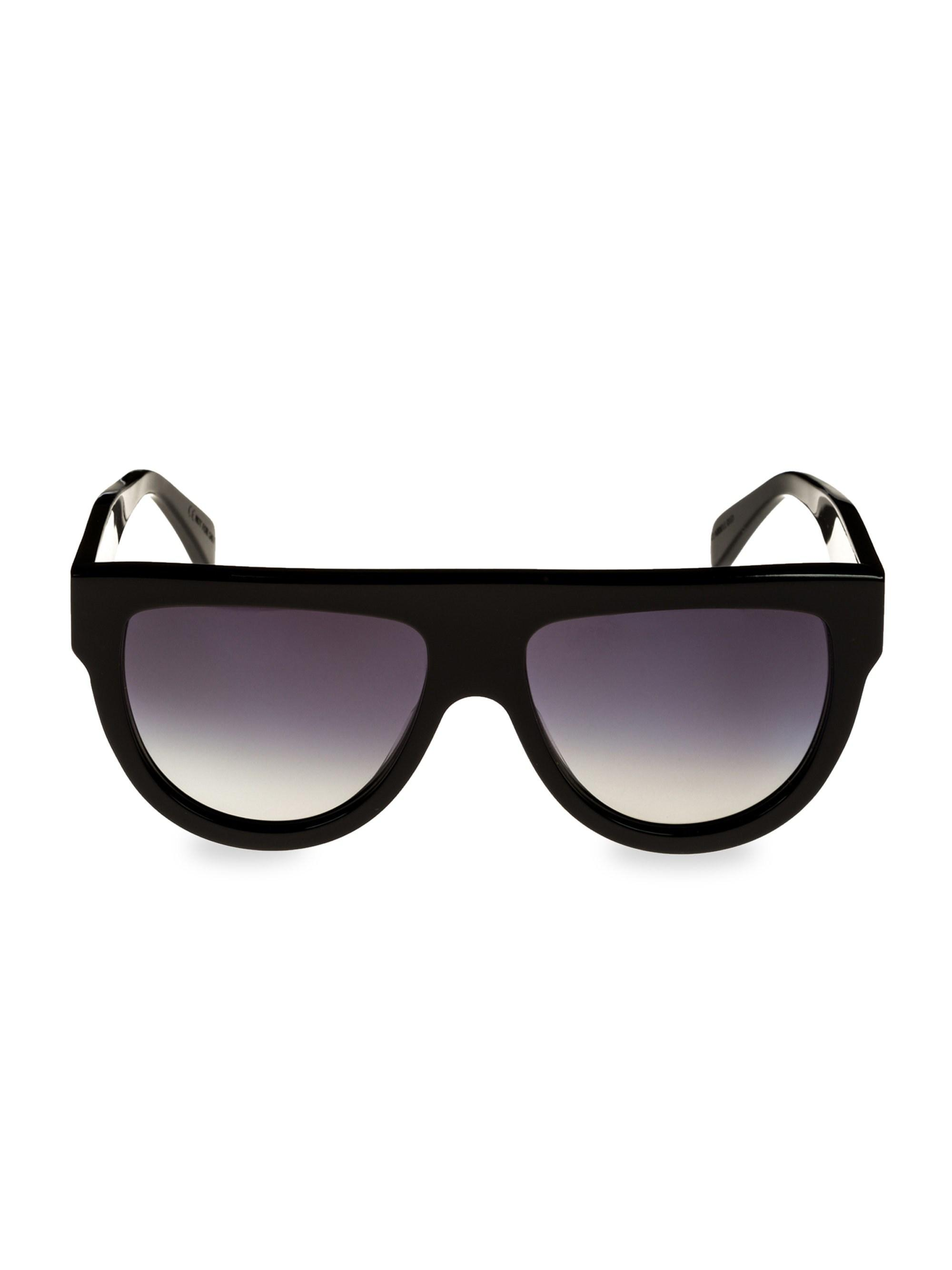 d3d48ac95323 Lyst - Céline Flat Top Aviator Sunglasses in Black