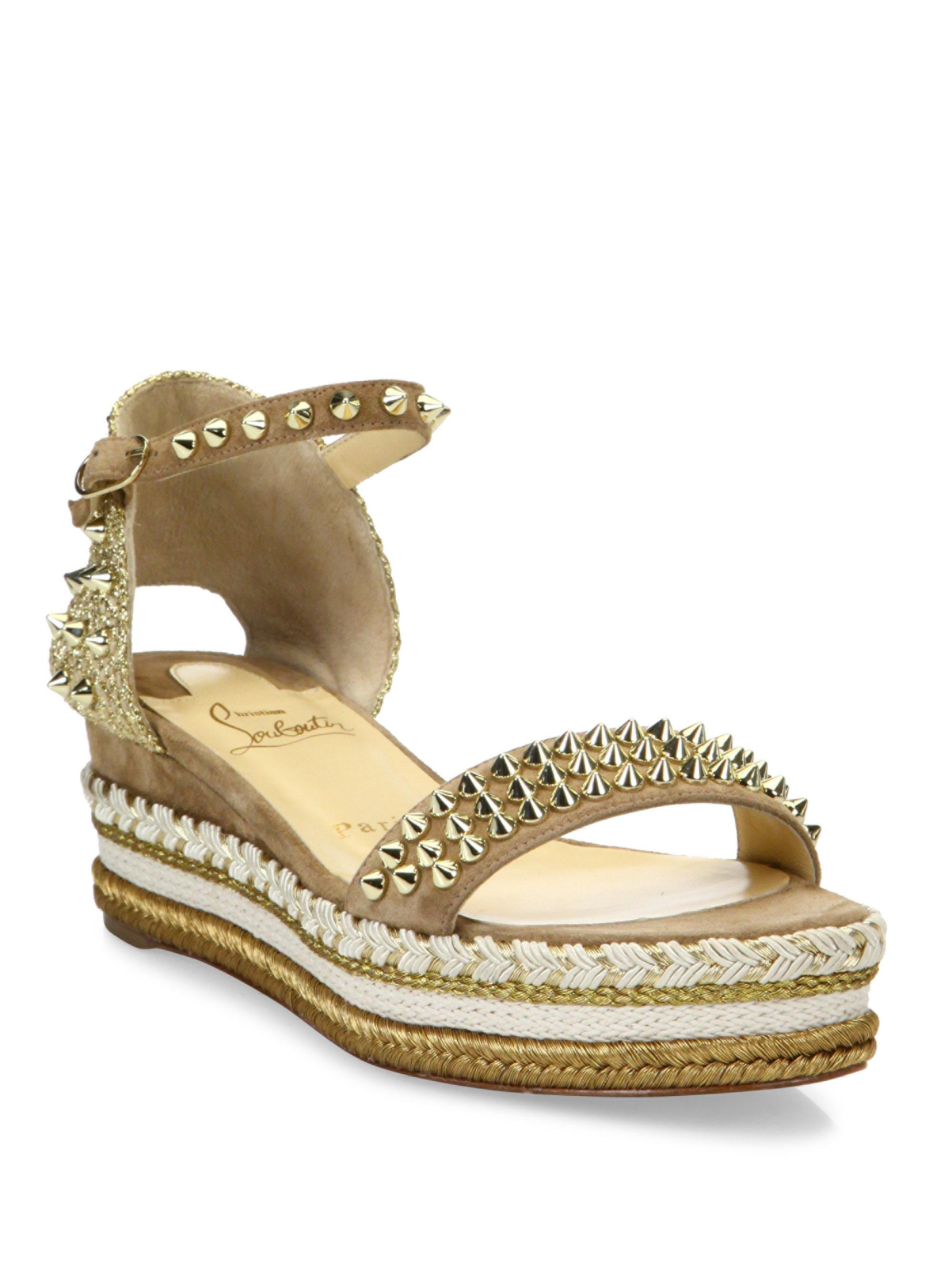 cc766698d28d Gallery. Previously sold at  Saks Fifth Avenue · Women s Christian  Louboutin Spike Women s Jeweled Flat Sandals ...