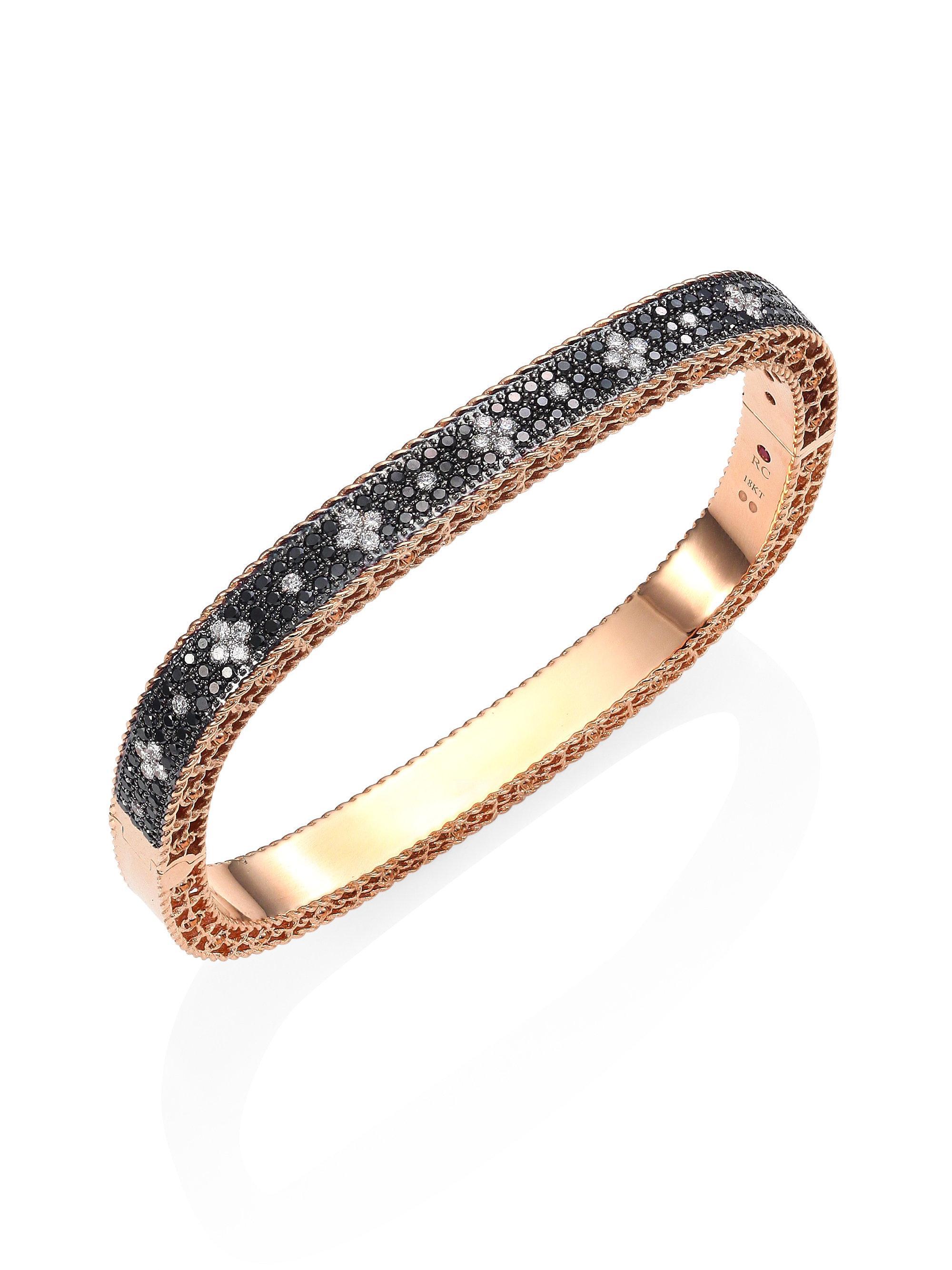 Roberto Coin 18k Venetian Princess Diamond Bracelet pFg62Jn