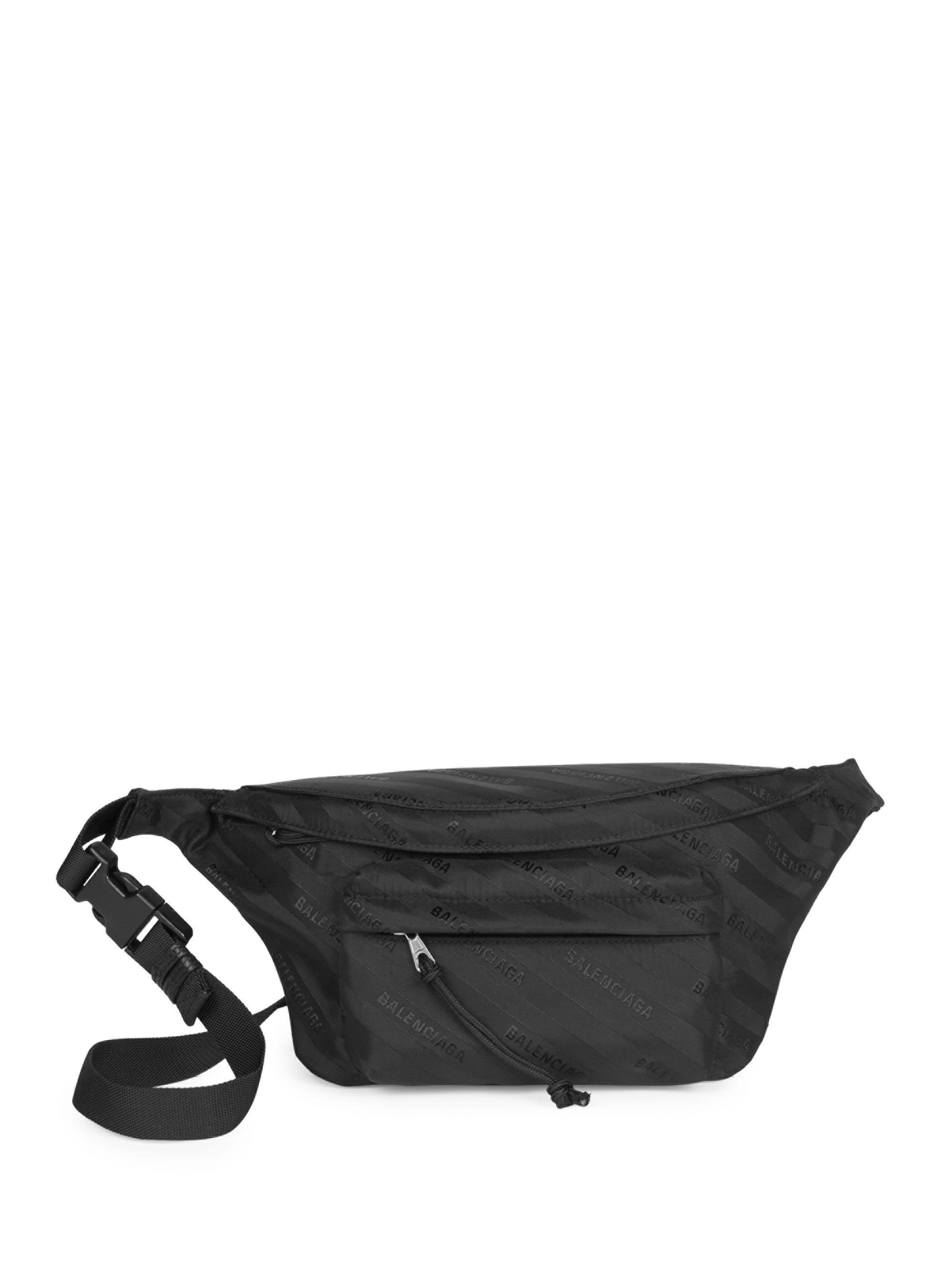 5175c862c4 Balenciaga - Black Women s Wheel Nylon Logo Belt Bag - Noir - Lyst. View  fullscreen