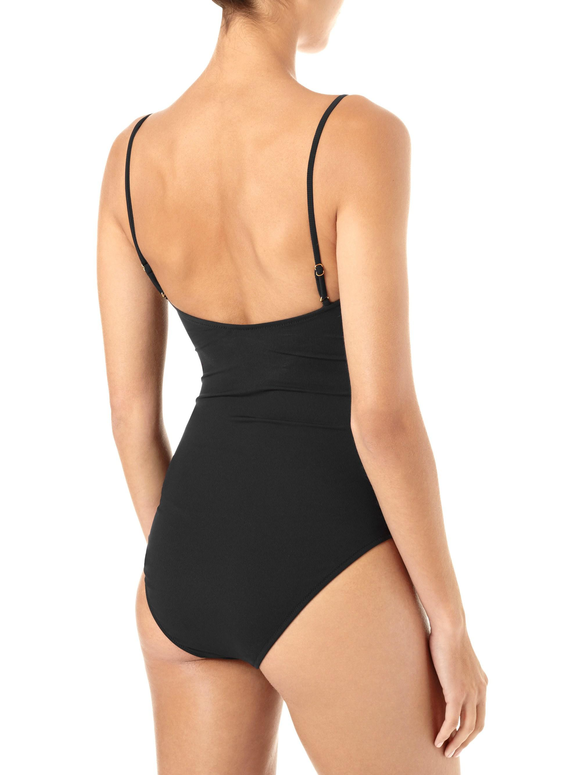 8ceee33ec856b Lyst - Melissa Odabash Calabasa Ribbed One-piece Swimsuit in Black