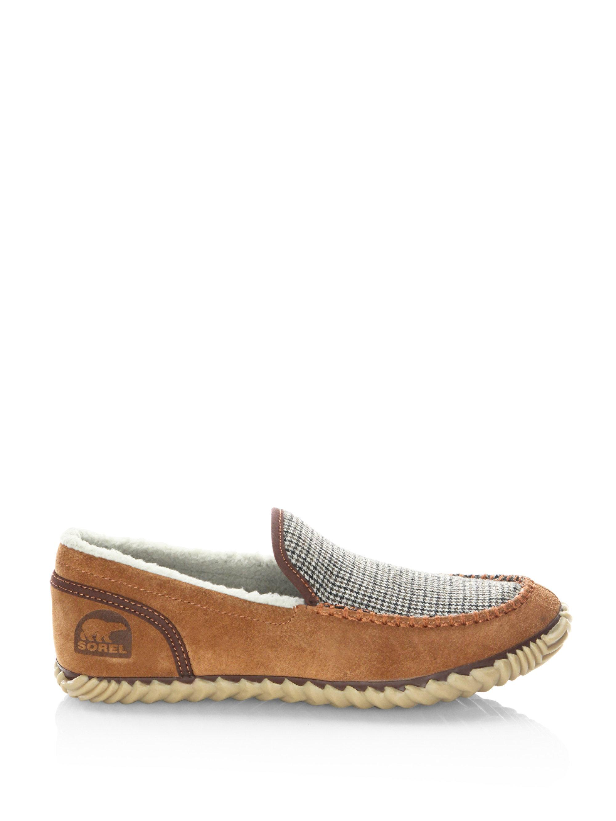 sorel Dude Faux Shearling Lined Suede Slip-On Sneakers