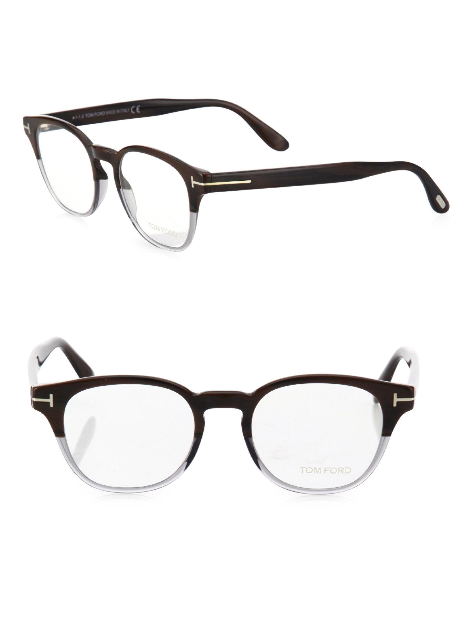1fefd8d975c8 Tom Ford 48mm Soft Round Optical Glasses for Men - Lyst