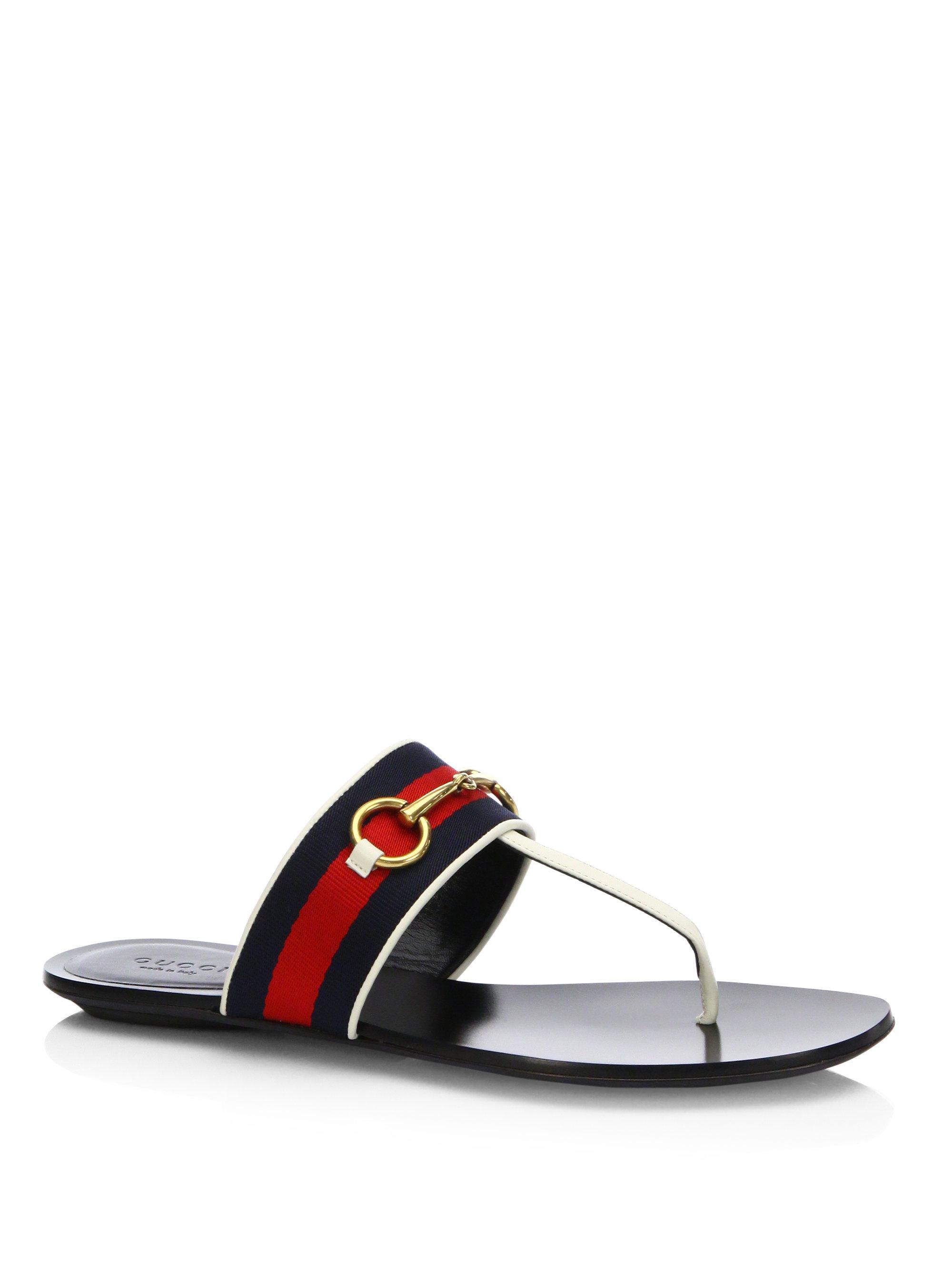 bf91e3523e0b Lyst - Gucci Querelle Web Thong Sandals