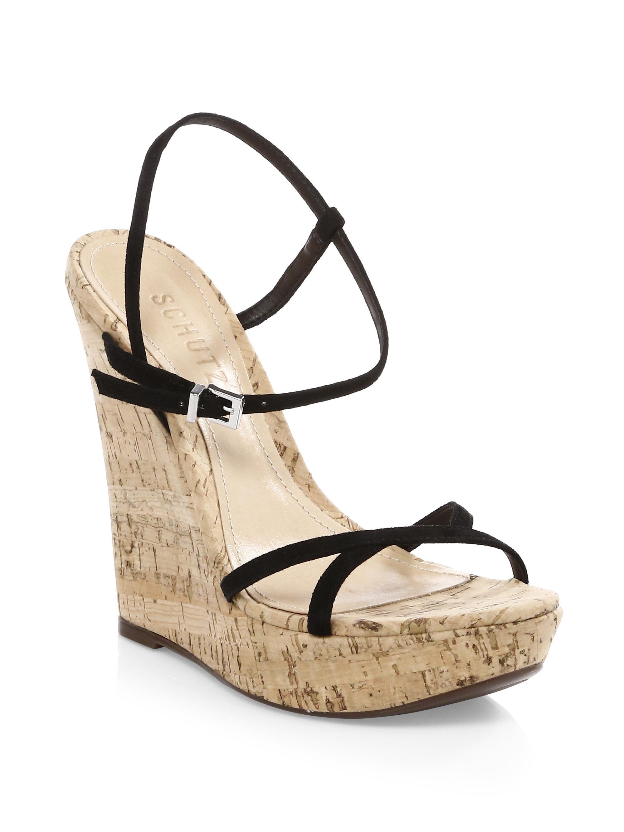 Schutz Auria Wedge Sandals YmZNYF75K
