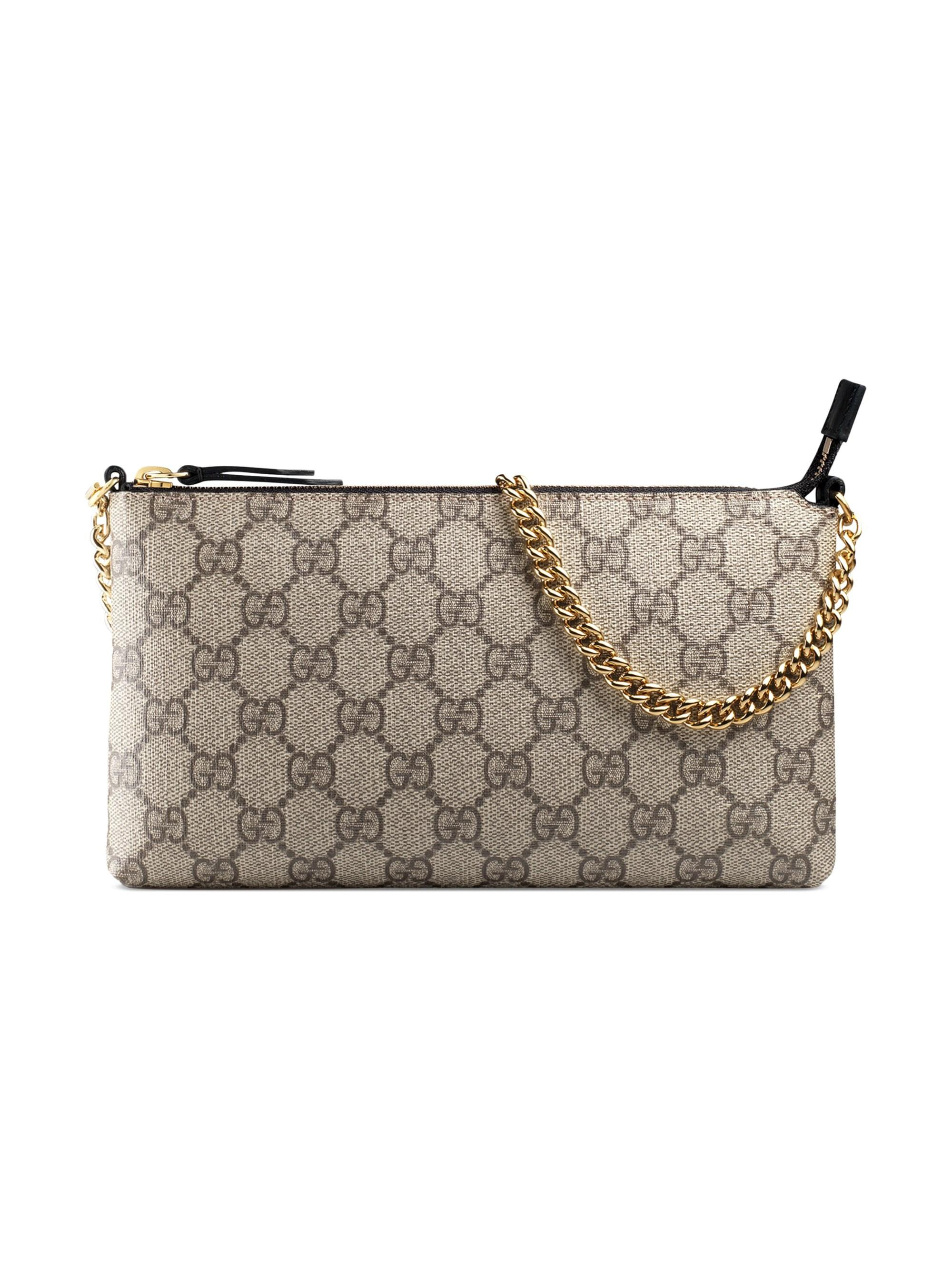 eaa03849824945 Gucci Women's Linea A Pouch - Brown in Brown - Lyst