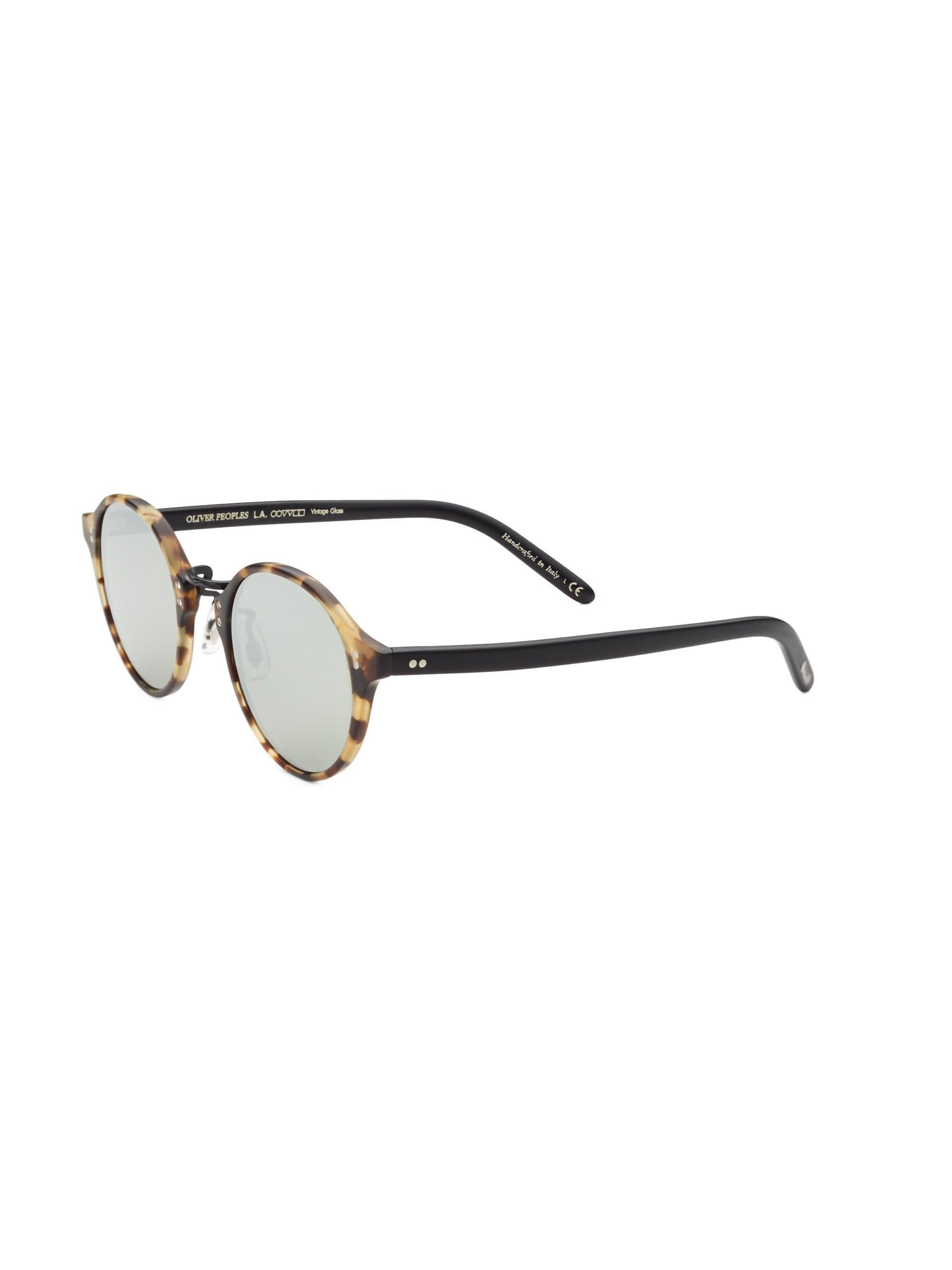 31ff5d5d45 Oliver Peoples - Men s Op-1955 48mm Round Sunglasses - Dark Brown for Men  -. View fullscreen