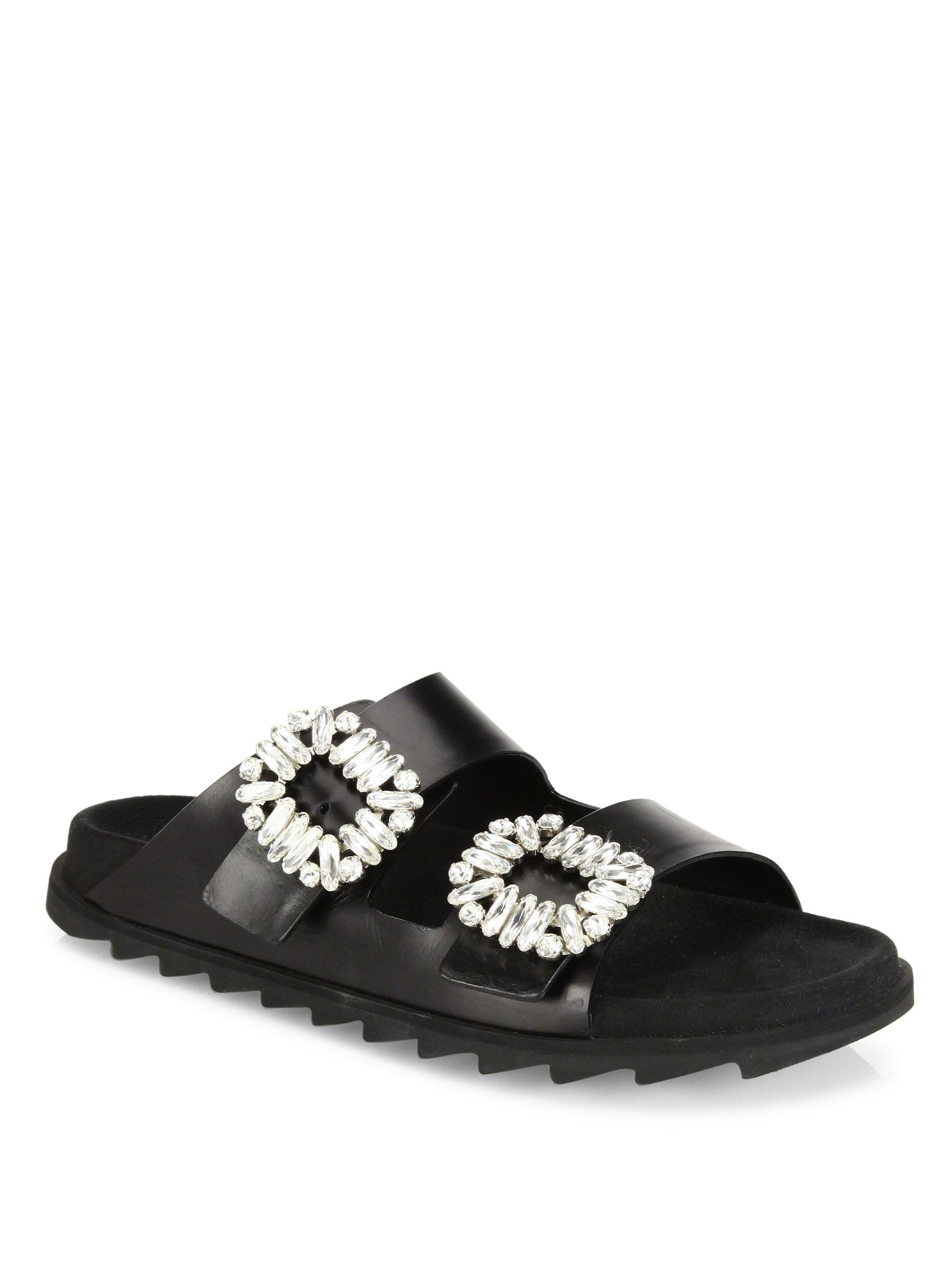 Roger Vivier. Women's Black Visone Sandals