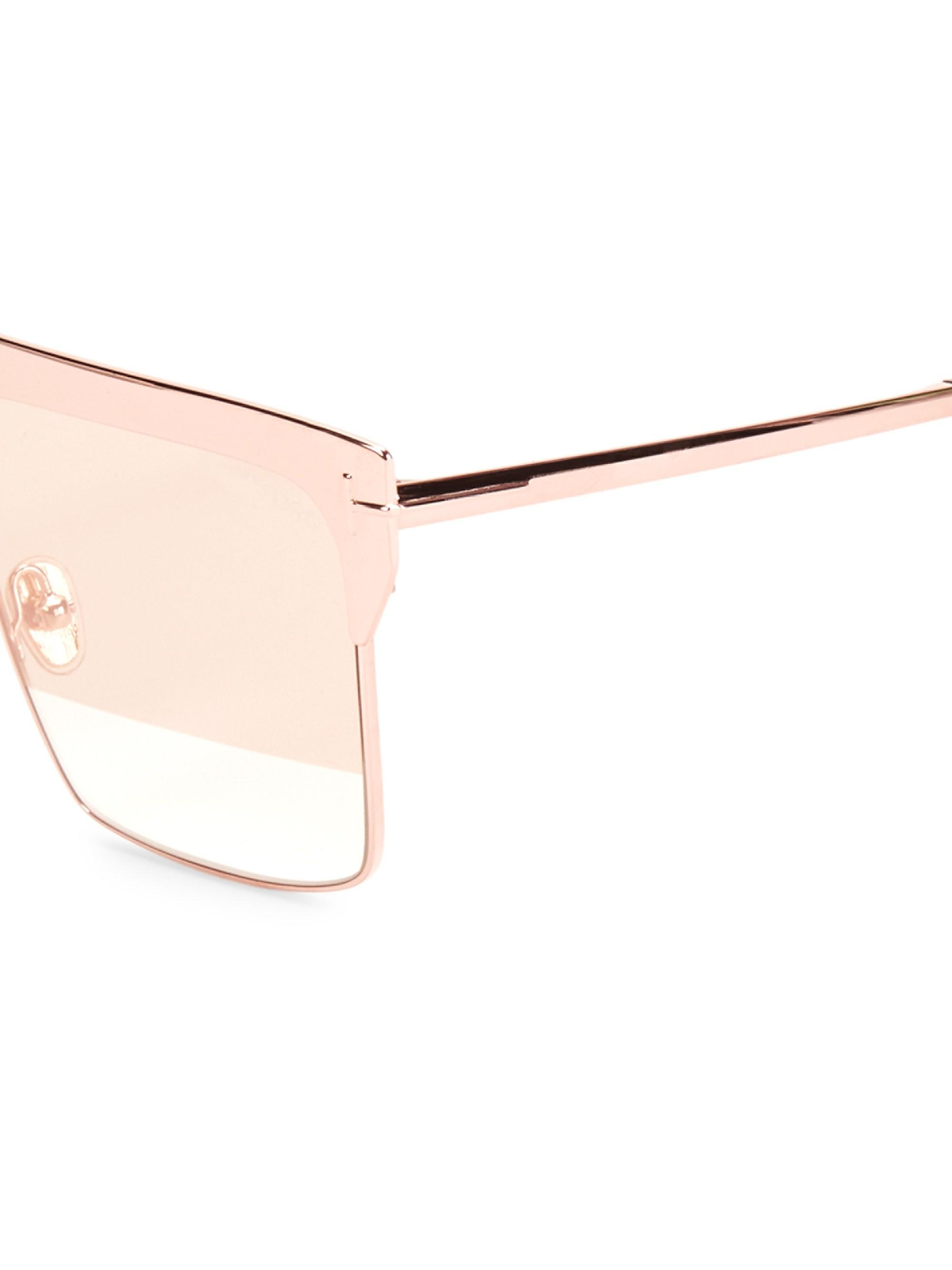 8ce8af4bc9e Lyst - Tom Ford West 59mm Square Rose Goldplated Sunglasses