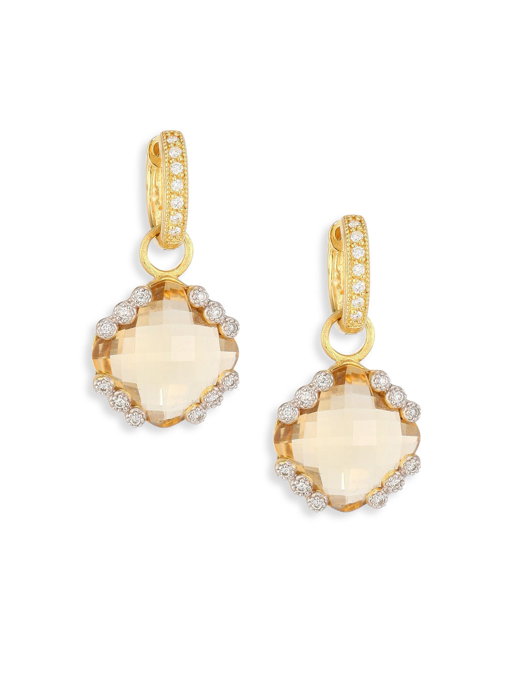 Jude Frances Provence Pearl Drop Earrings in 18K Rose Gold z8WeZOt