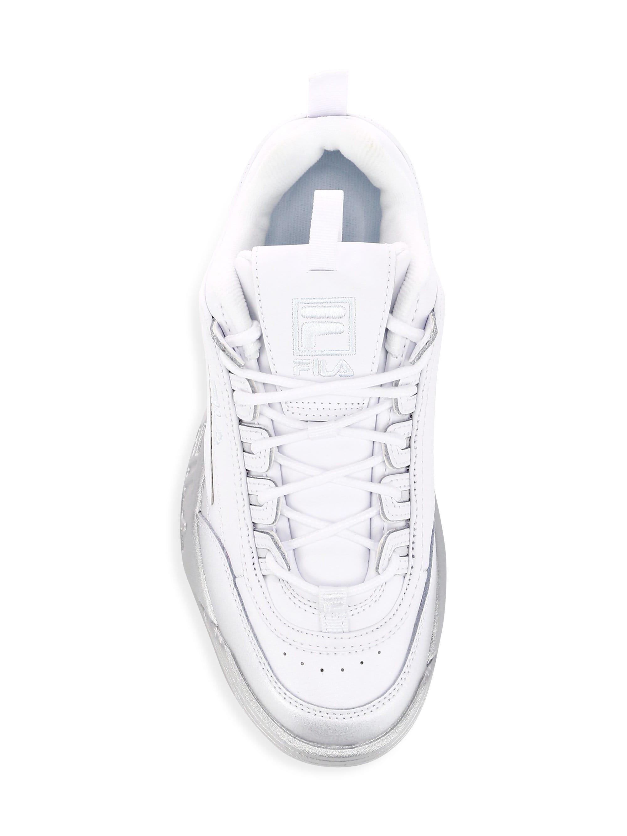62ca9c03 Fila Women's Disruptor Ii Premium Leather Sneakers - White in White ...