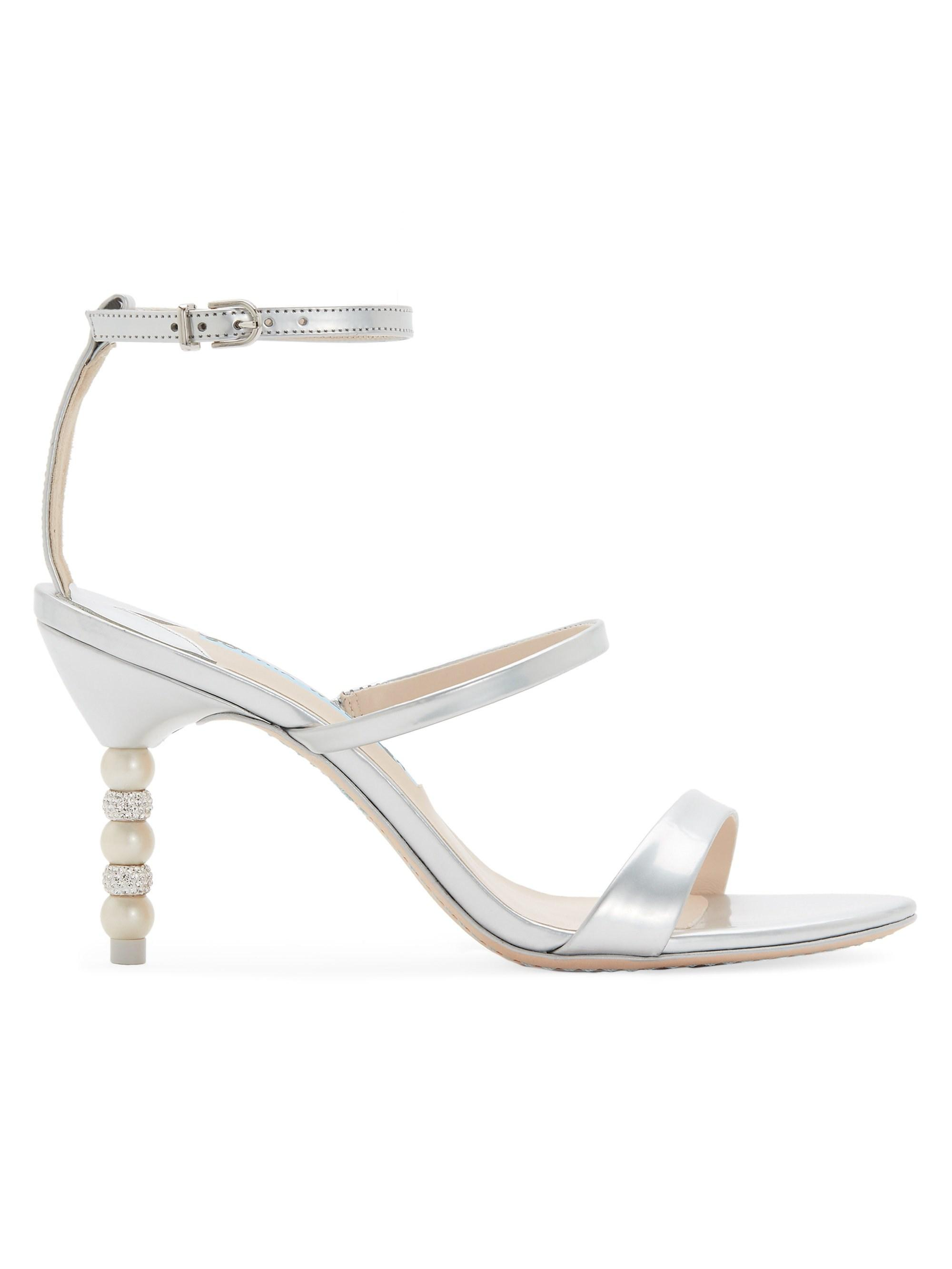 a6f49bc3114 Lyst - Sophia Webster Rosalind Strappy Crystal & Faux-pearl Heel ...