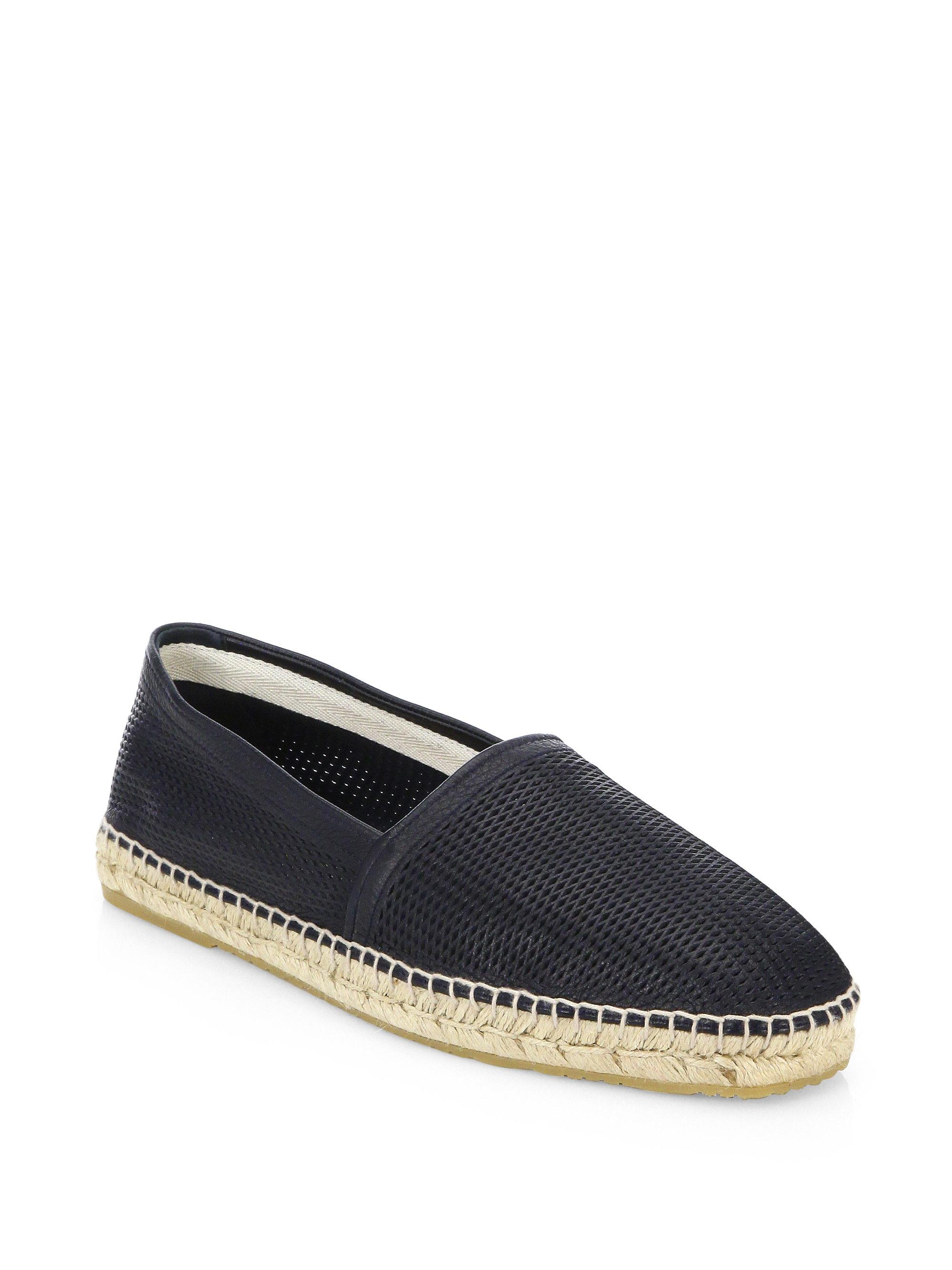 ArmaniPerforated Leather Espadrilles mzI5Fs