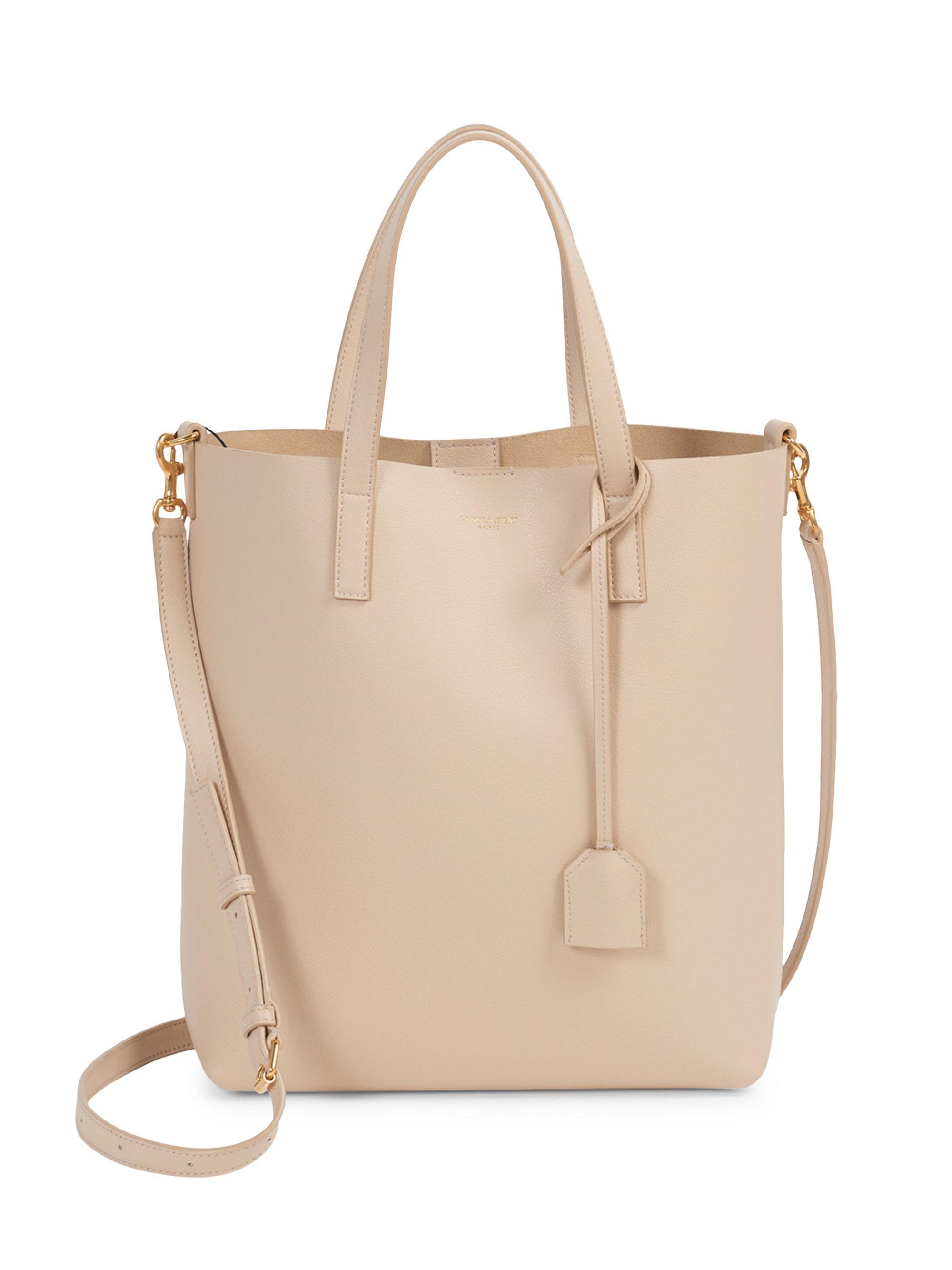 61b4562d97374 Saint Laurent Small Crossbody Shopper Bag in Natural - Lyst