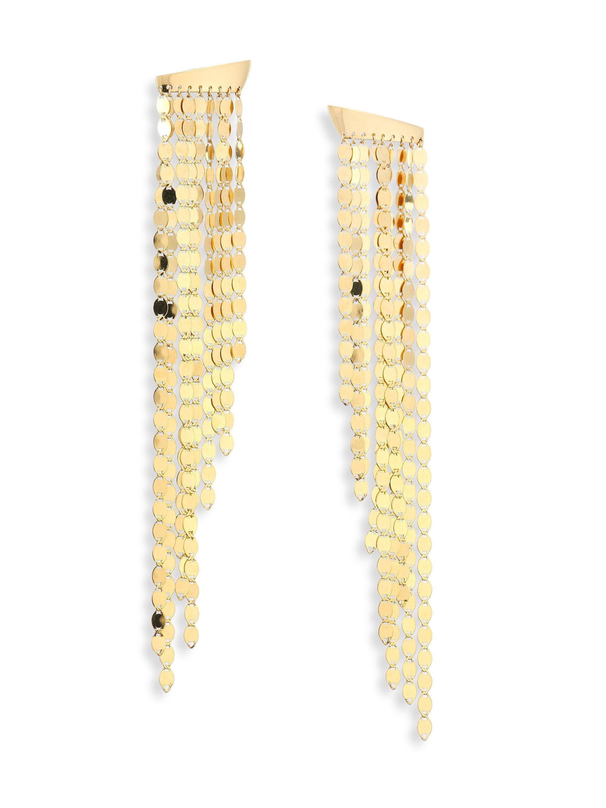 Lana Jewelry Large Nude Disc Fringe Earrings n0JBkDjQ1