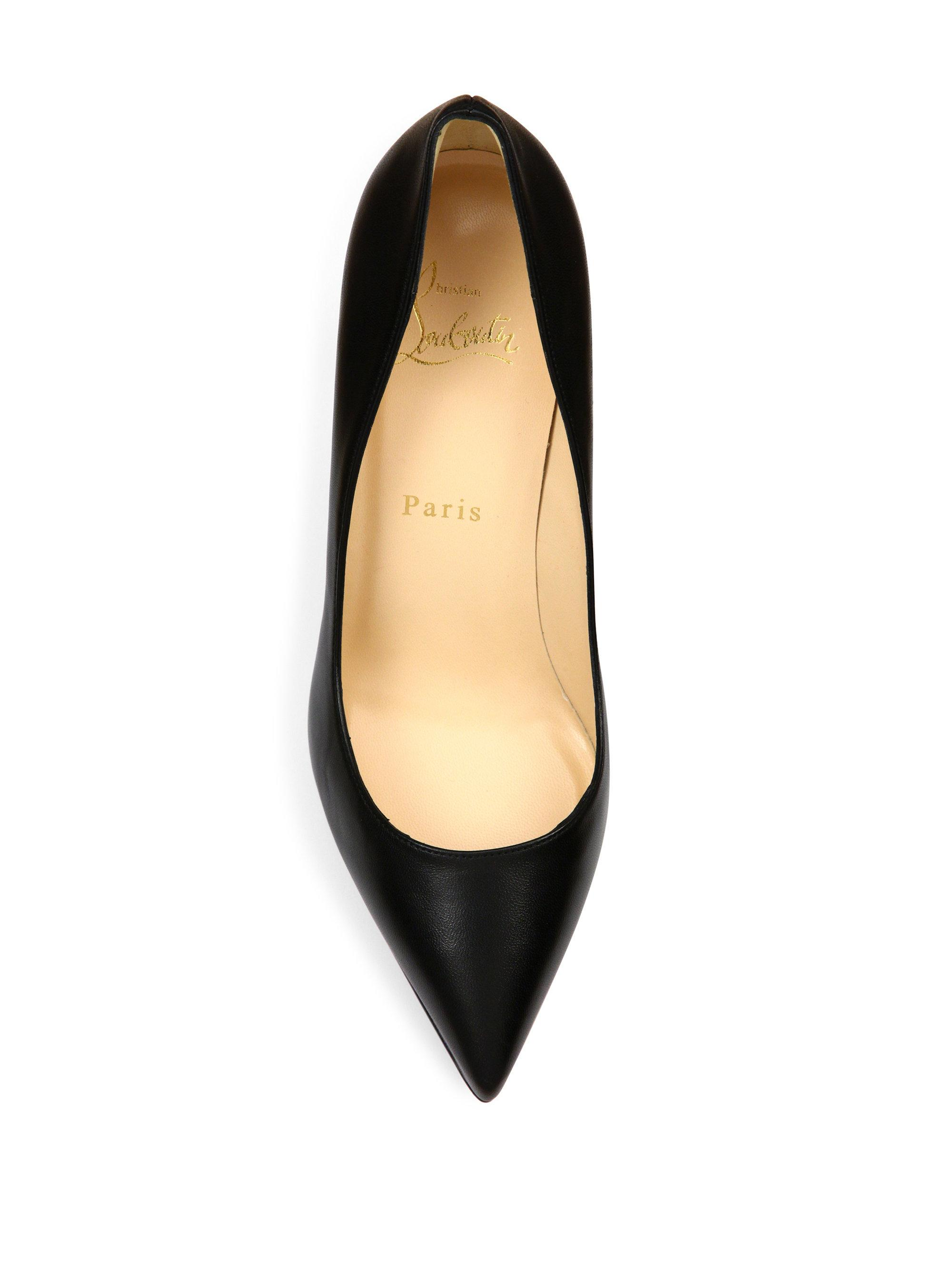 9f40ac1a5187 ... cheapest christian louboutin black pigalle plato 100 leather point toe  platform pumps lyst. view fullscreen ...