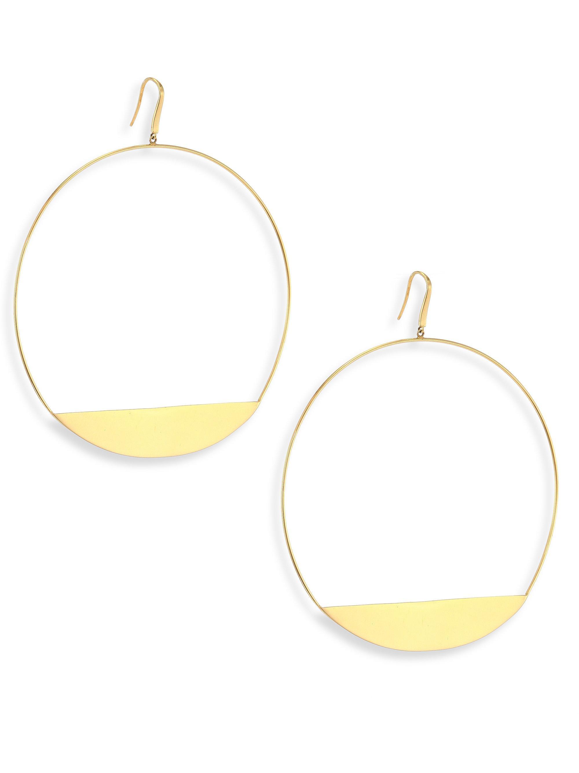 Lana Jewelry Eclipse 14K Pavé Diamond Earrings UmdUgE3wjh
