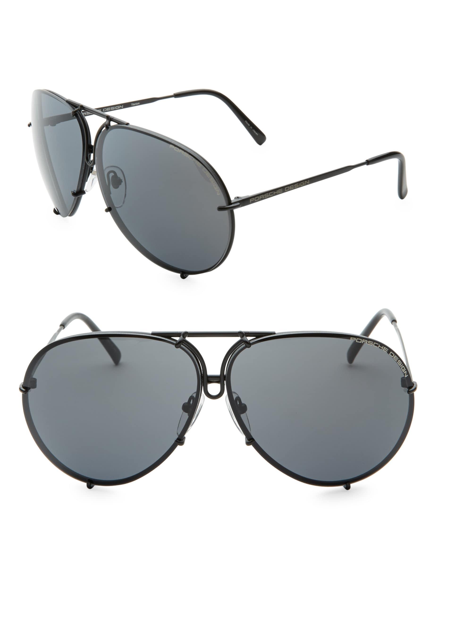 9df140d4aca Lyst - Porsche Design P847 Aviator Tinted Sunglasses in Black for Men