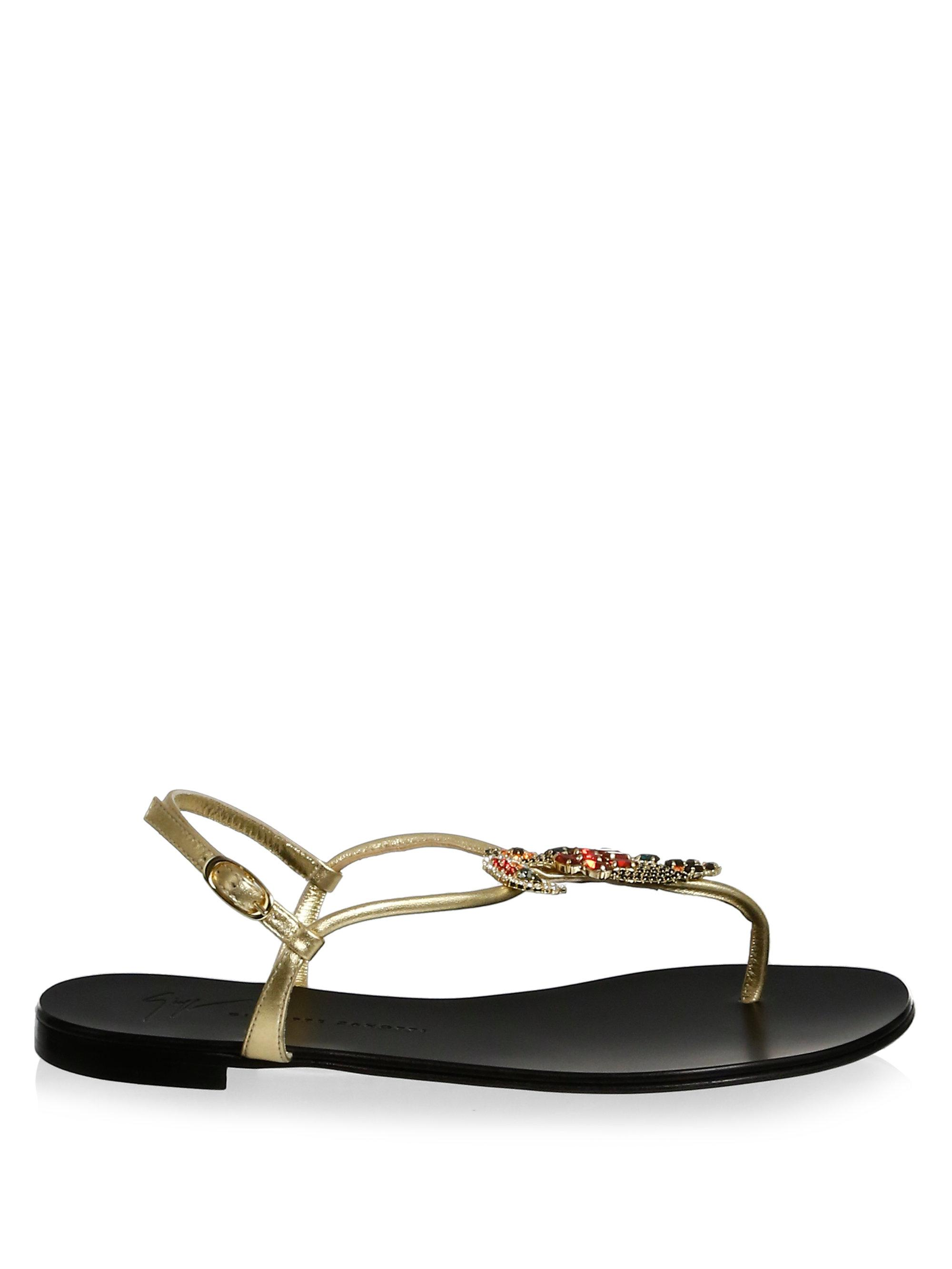 Giuseppe Zanotti Strass Thong Sandals classic cheap price 2014 newest online wholesale price online j3e32twNr