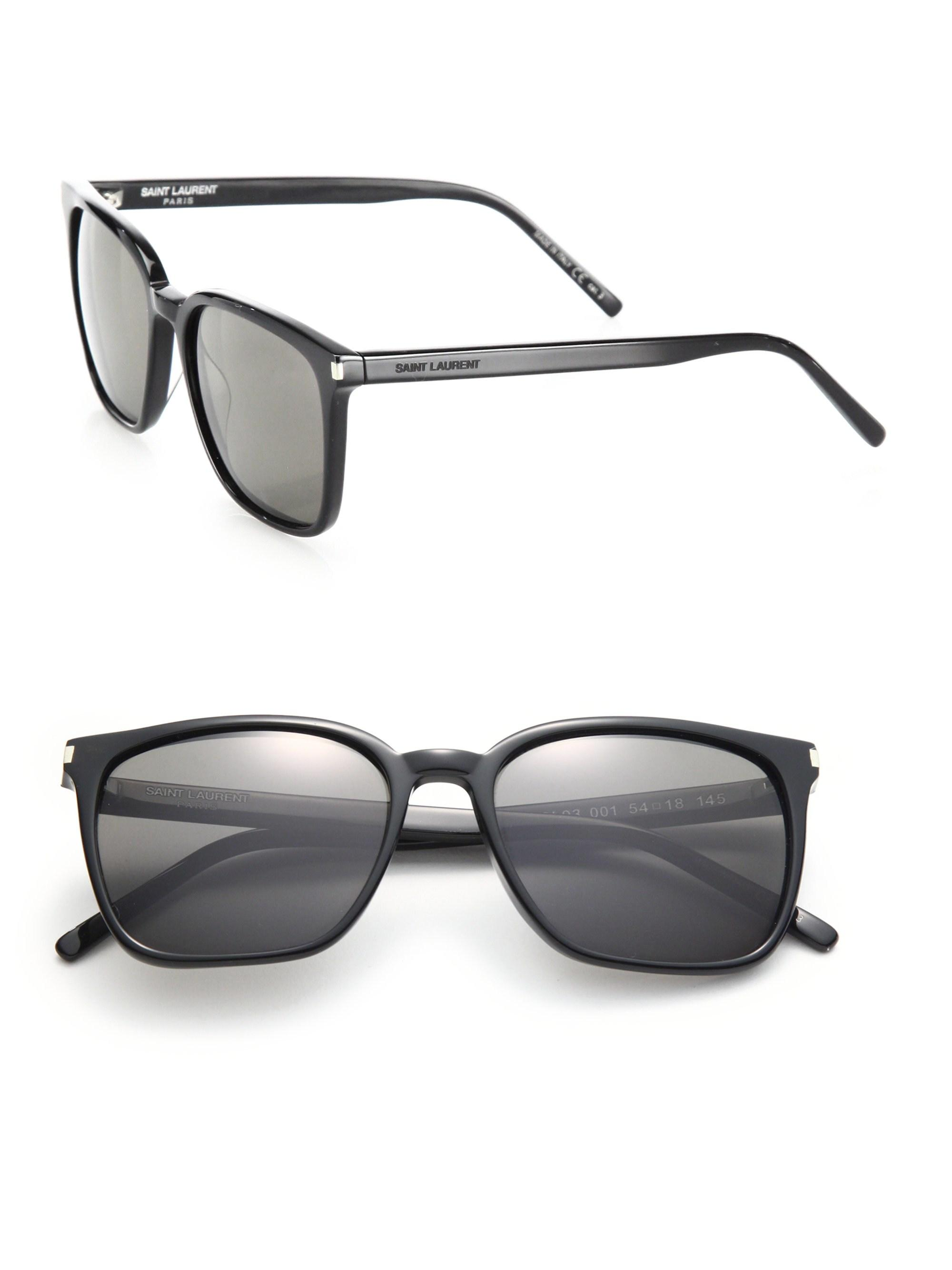 0d891b0c05b6 Saint Laurent Women's Sl 93 Thin Square Sunglasses - Black Smoke in ...