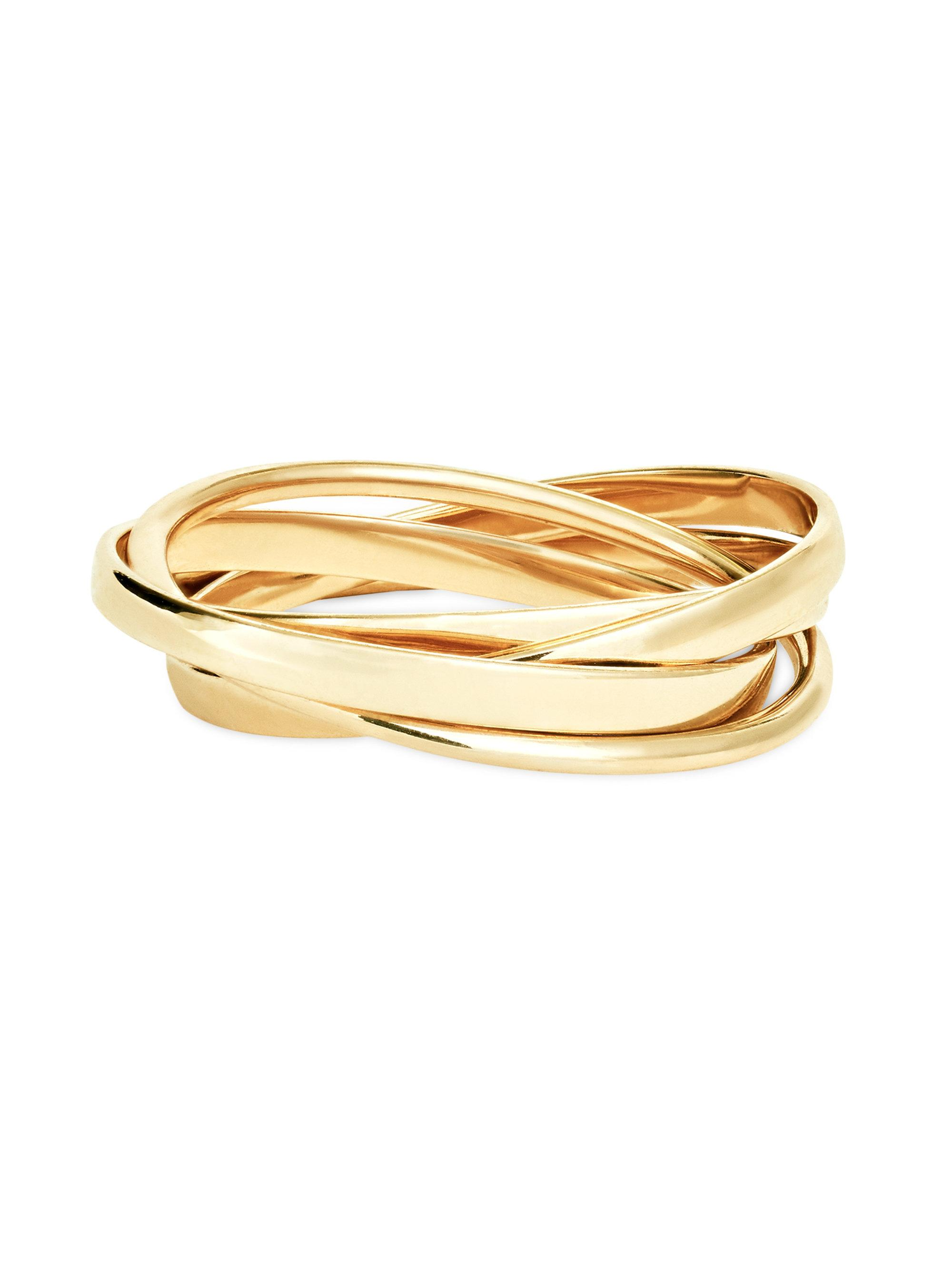 Lana Jewelry 14K Gold Bangle Set