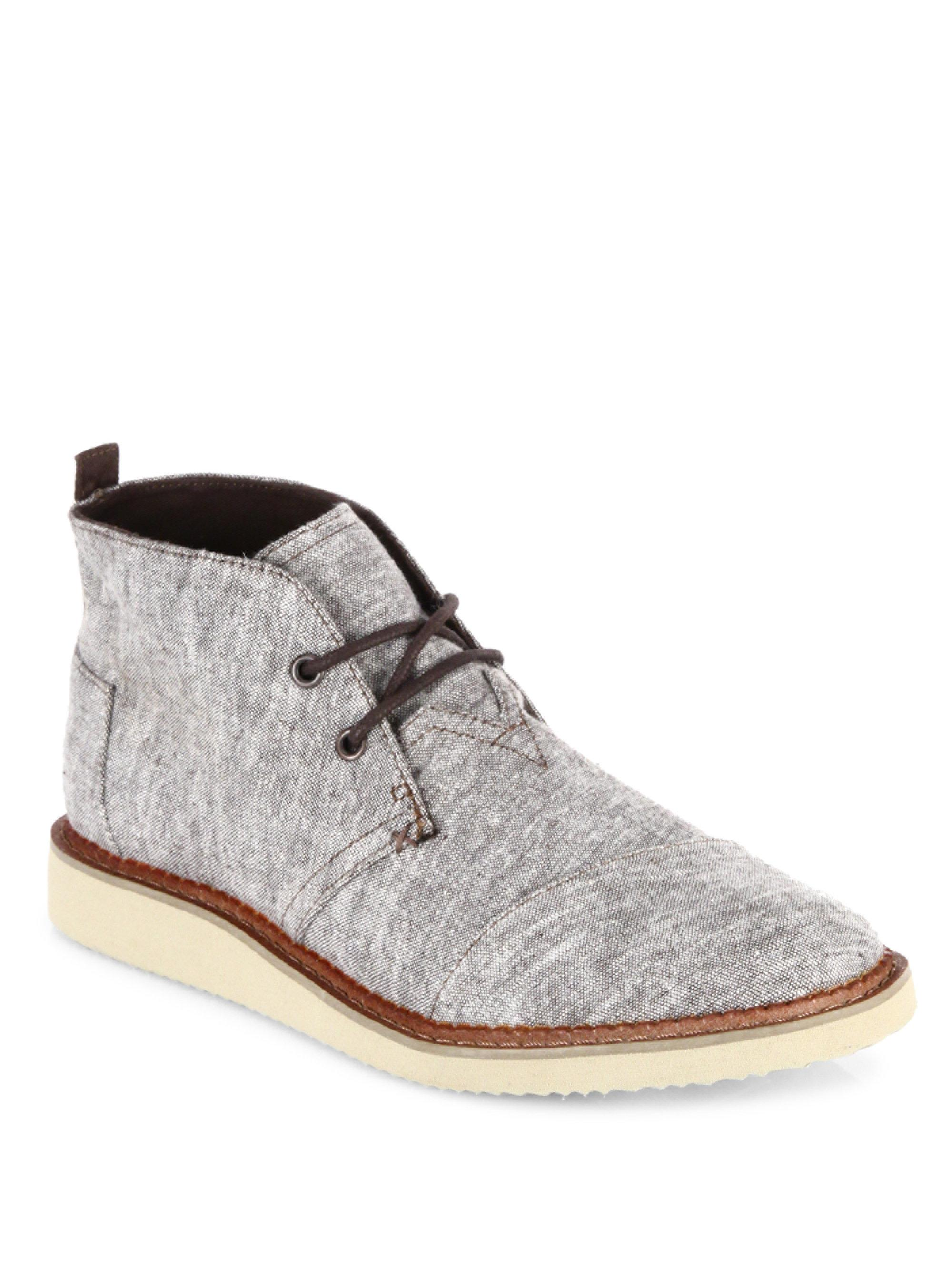 TOMS | Brown Mateo Chambray Chukka Boots for Men | Lyst. View Fullscreen
