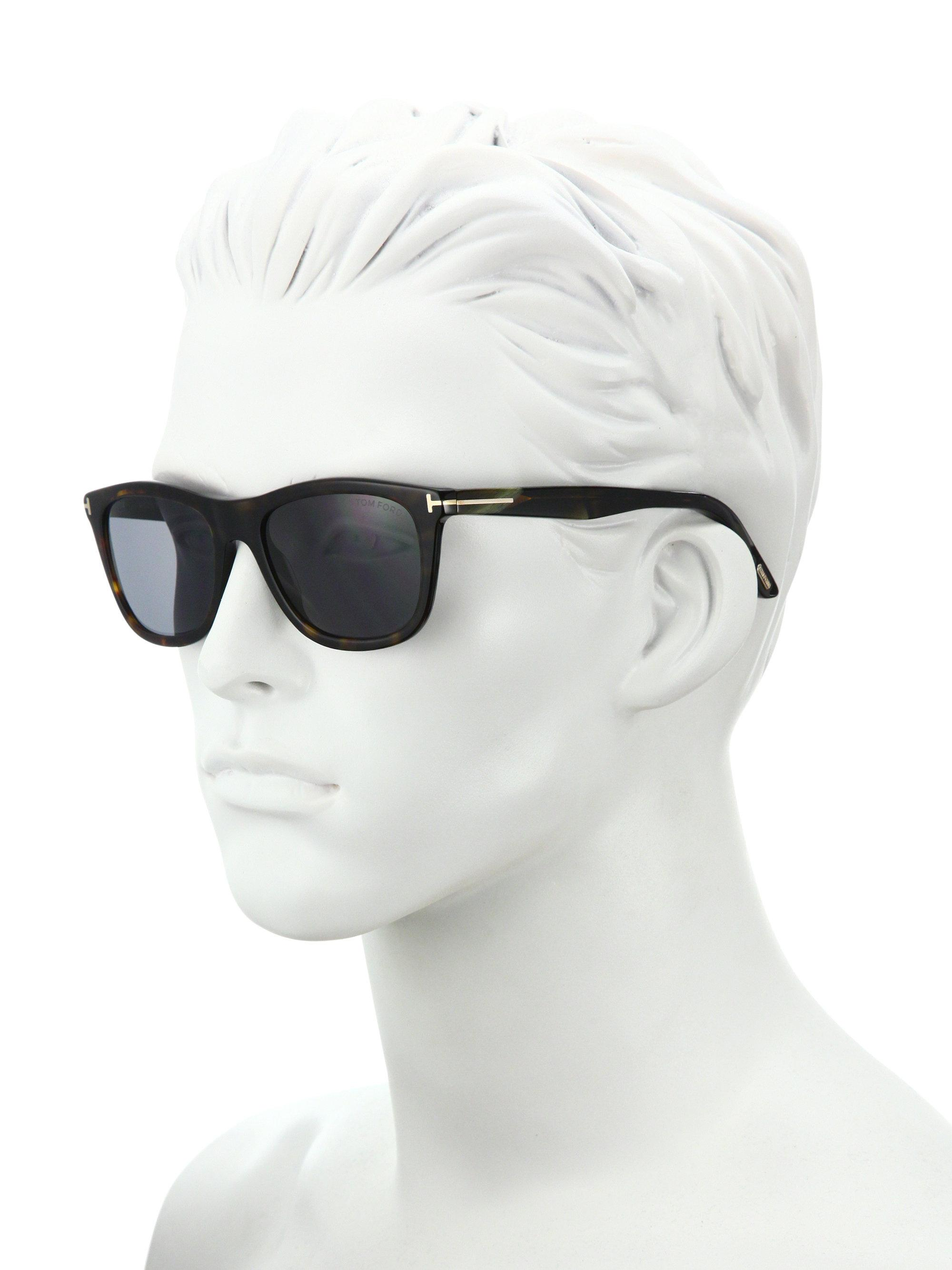 519113368a Tom Ford Andrew 54mm Square Sunglasses in Black for Men - Lyst
