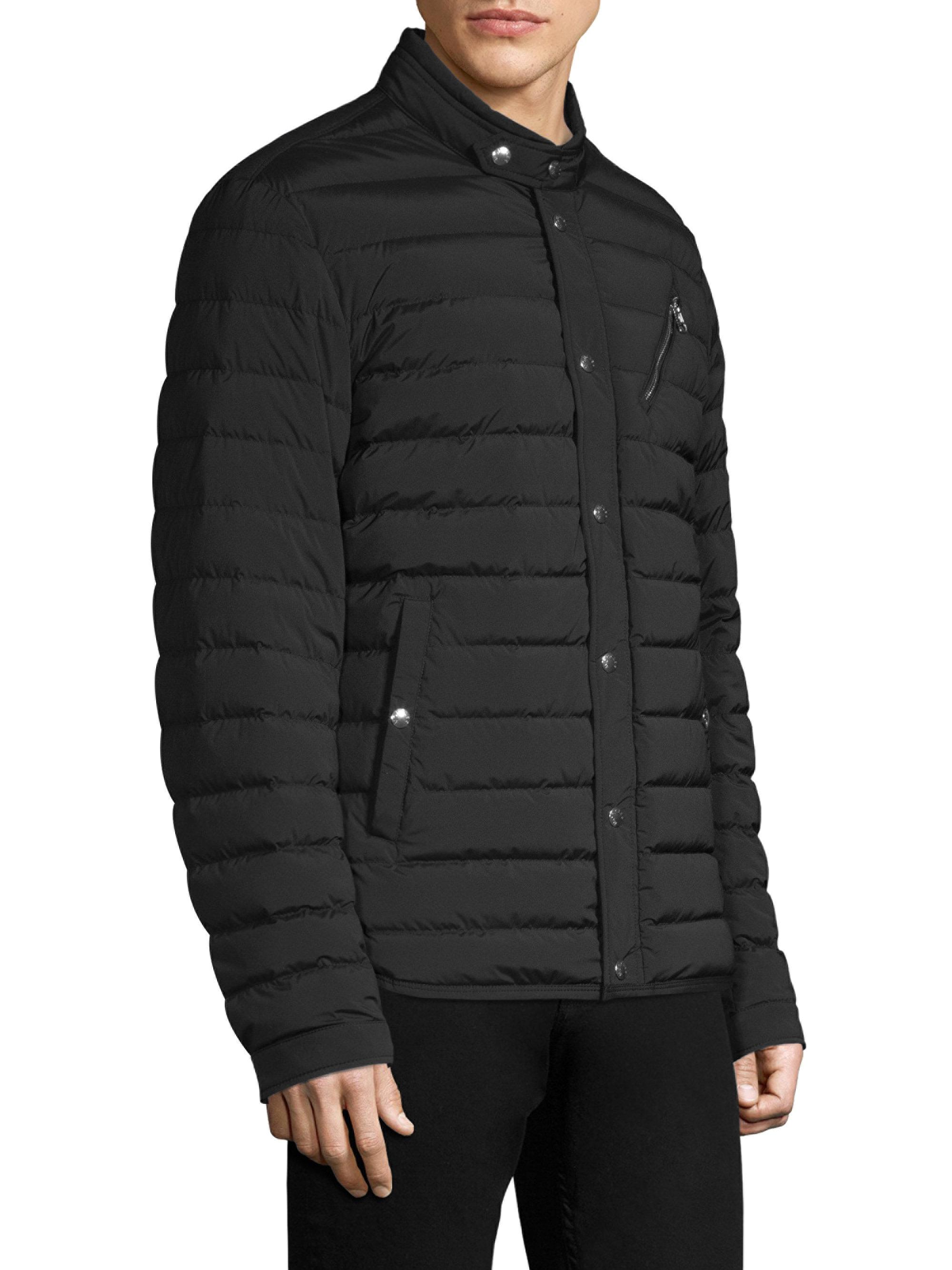 93f336a66 Moncler Nestor Quilted Snapped Jacket in Black for Men - Lyst