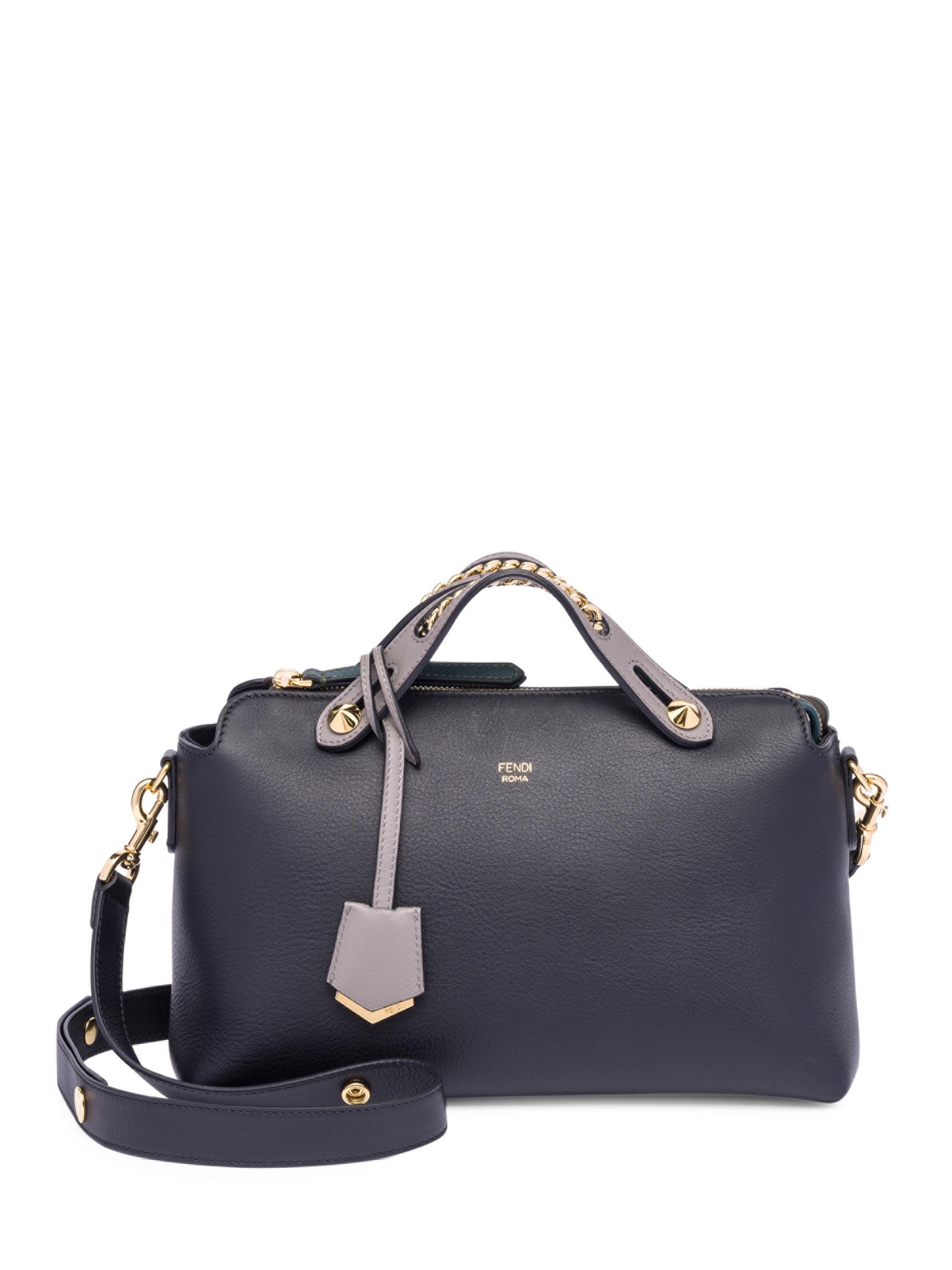 2d99093878d2 ... ireland lyst fendi by the way chain inset leather boston bag in black  14246 cb9d0 ...