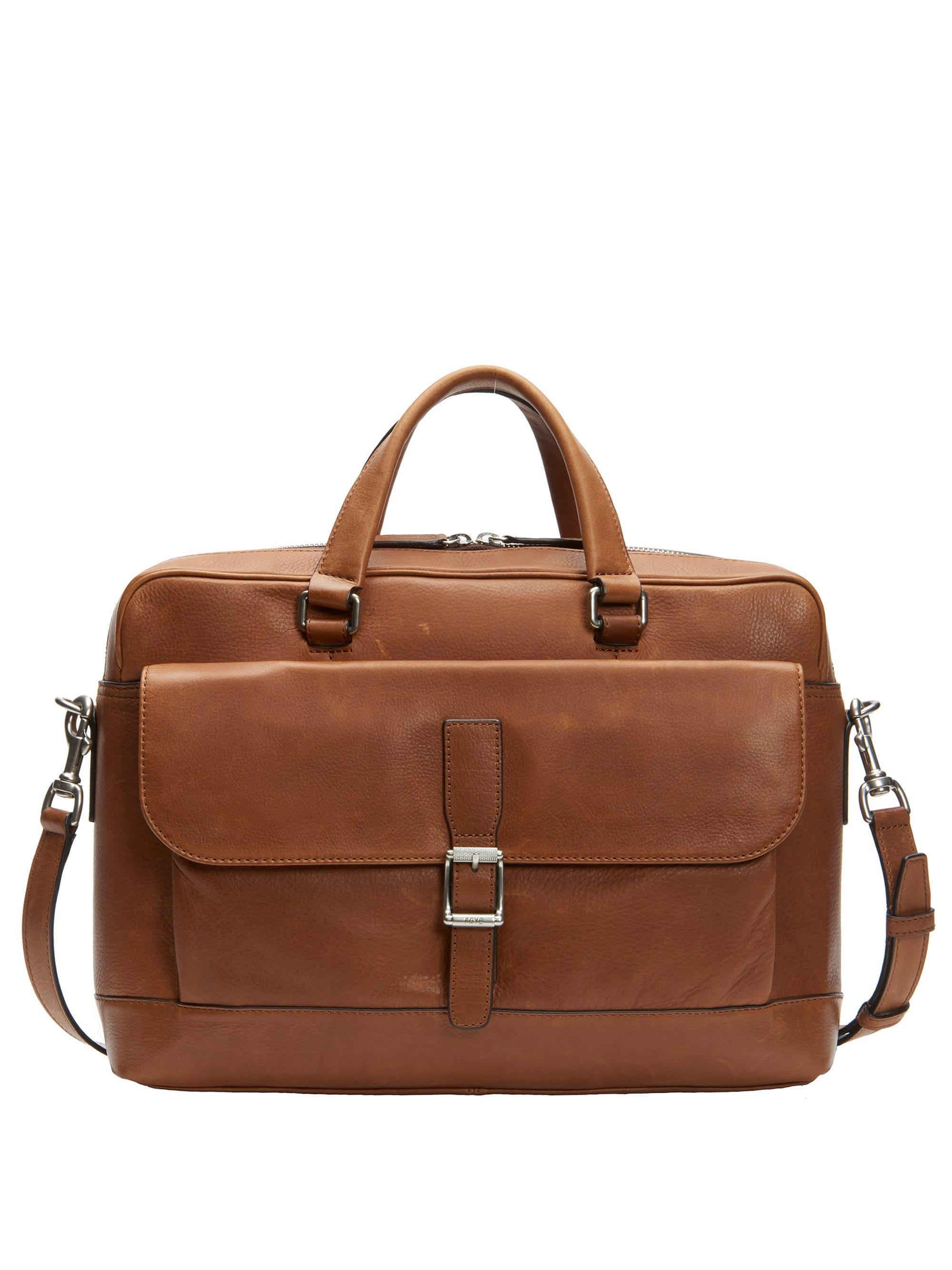 5a2f89883f8d Frye Men's Oliver Two-handle Leather Messenger Bag - Cognac in Brown ...