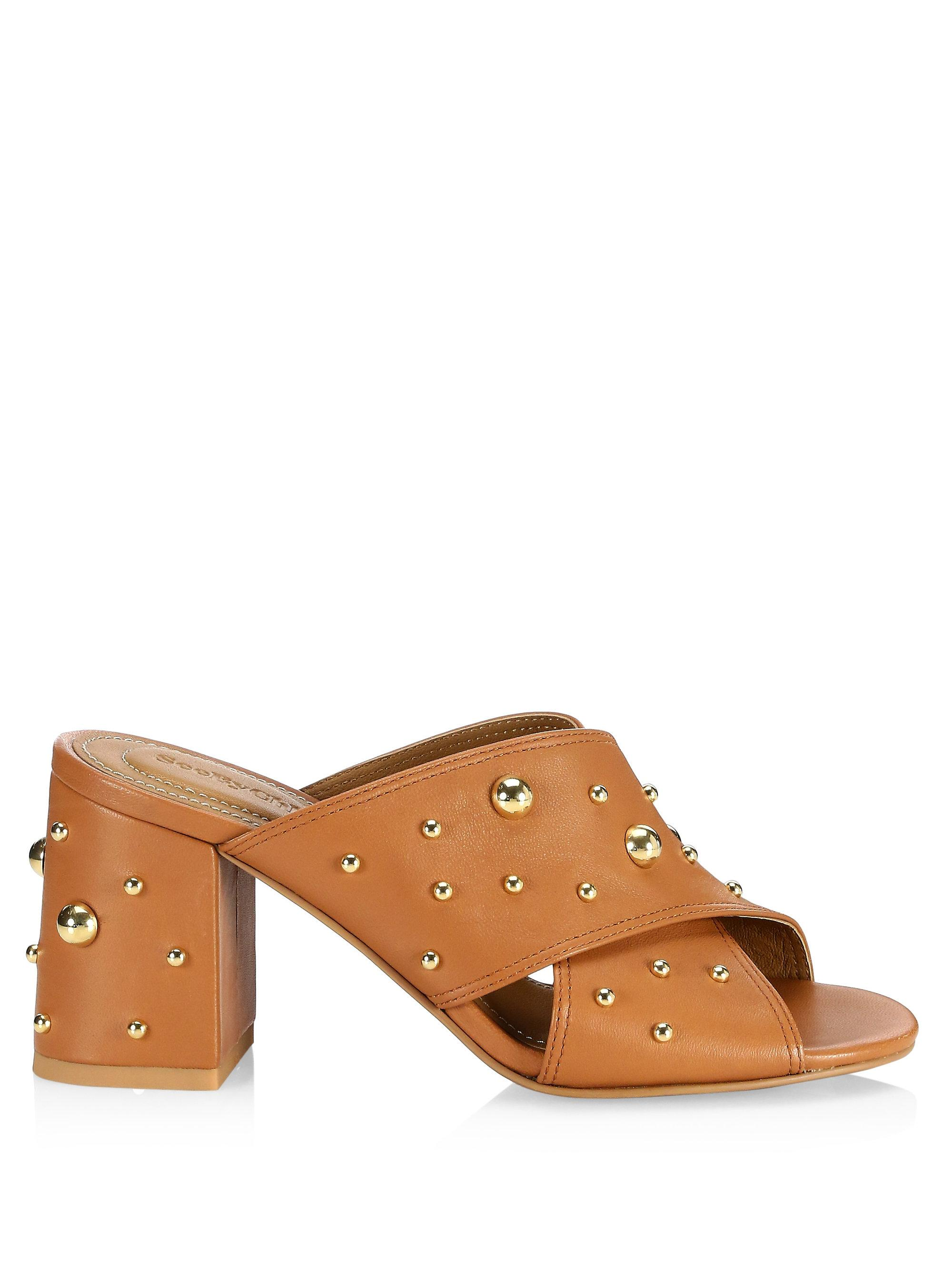 Chloé Abby Caramel Crisscross Sandals r1nTob8Q7