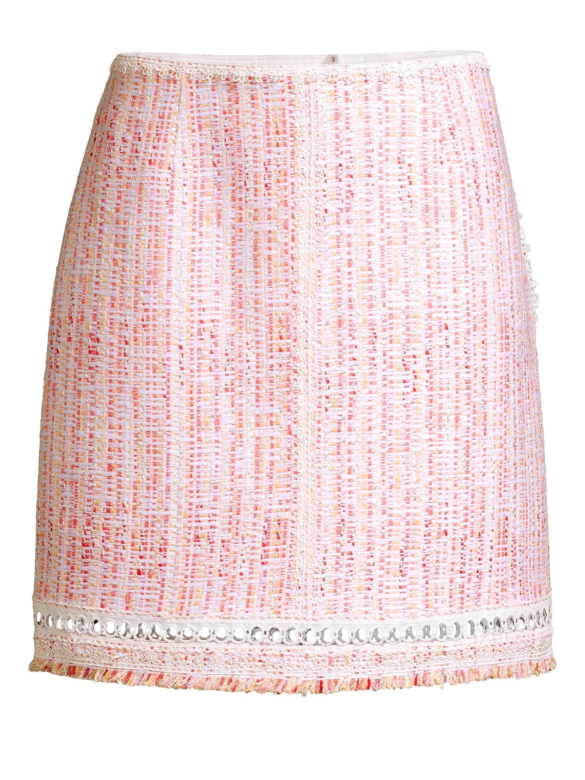 8f1cac00544374 Lyst - Elie Tahari Women s Cochi Tweed A-line Skirt - Pink Multi ...